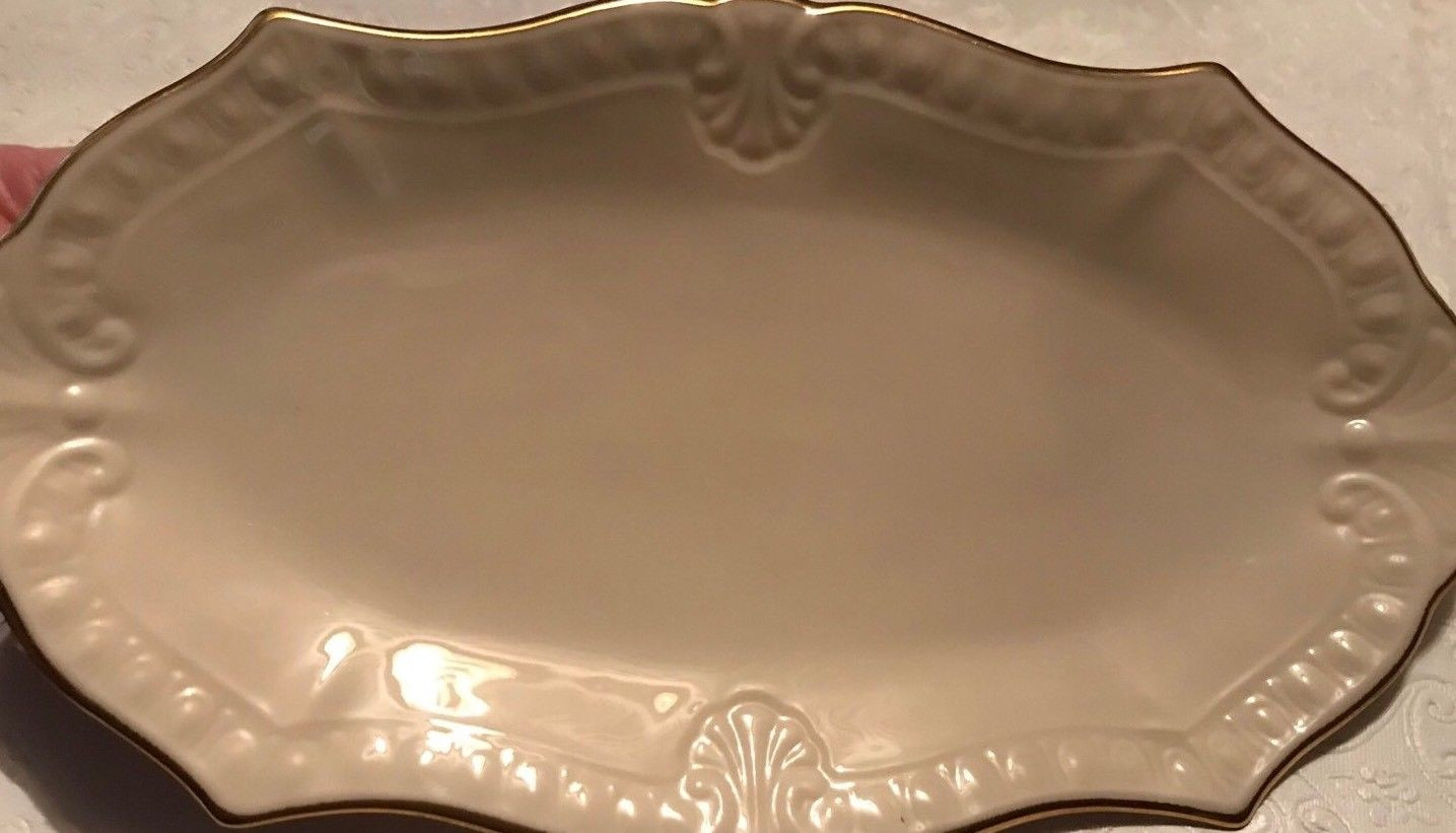 Lenox Rose Manor Vase Of Lenox Chadwick Small Serving Tray Hand Decorated with 24k Gold with 1 Of 7free Shipping