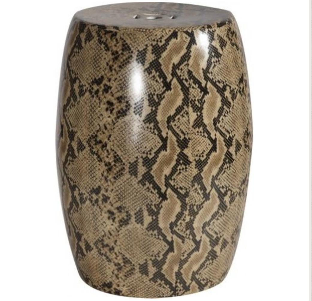 leopard print vase of ceramic snakeskin garden stool animal print glam pinterest inside ceramic snakeskin garden stool