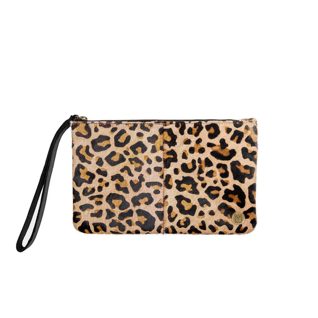 leopard print vase of classic clutch bag in leopard print by mahi leather intended for classic clutch bag in leopard print