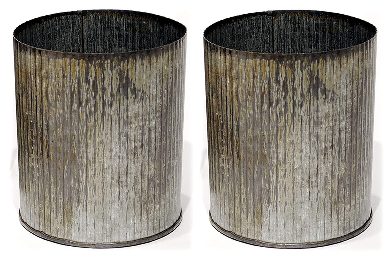 libbey clear cylinder bud vase of amazon com 5 25 corrugated zinc metal cylinder pots vases set of pertaining to amazon com 5 25 corrugated zinc metal cylinder pots vases set of 2 home kitchen