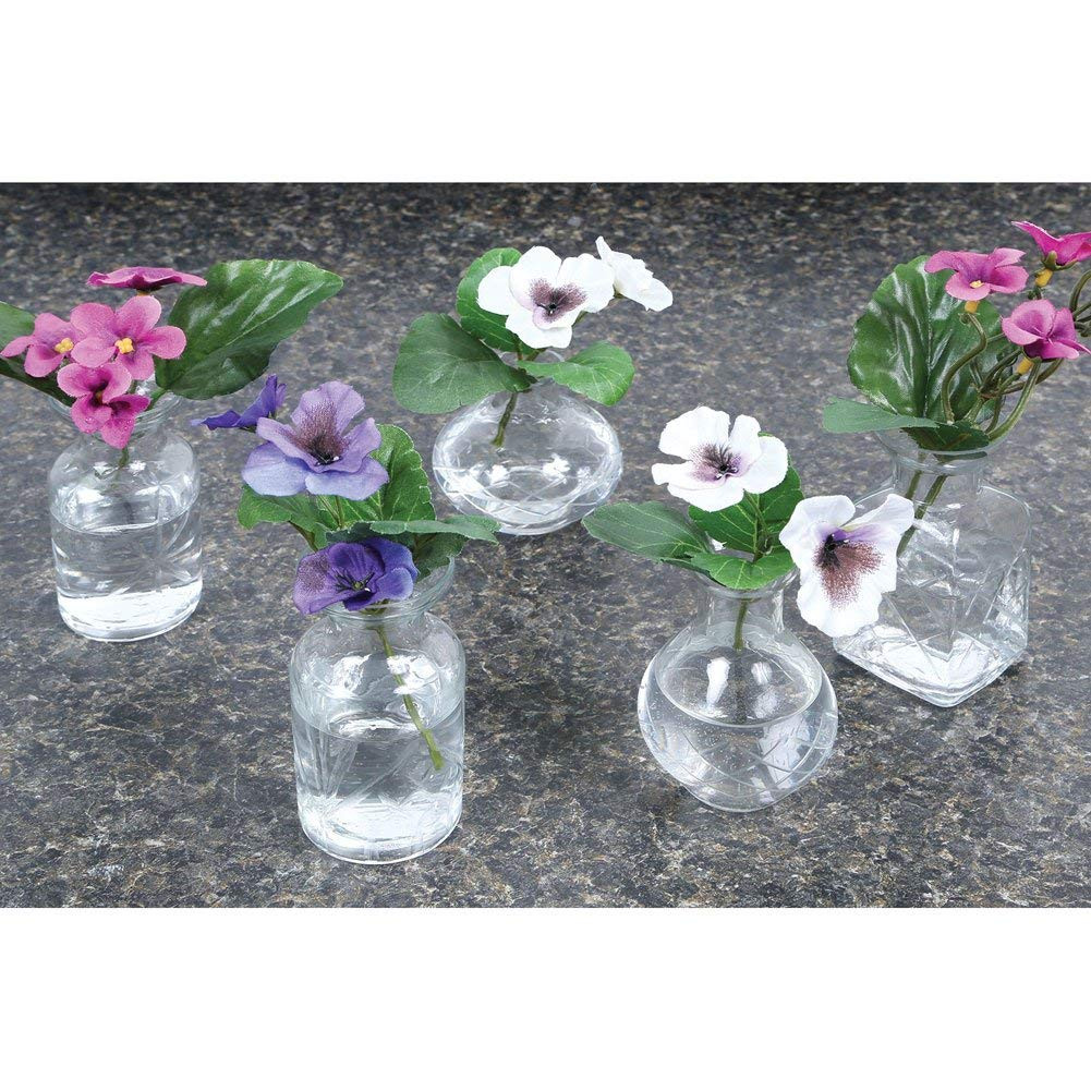 libbey cylinder bud vase of amazon com small cut glass vases in differing unique shapes set pertaining to amazon com small cut glass vases in differing unique shapes set of five by signals decorative vases garden outdoor