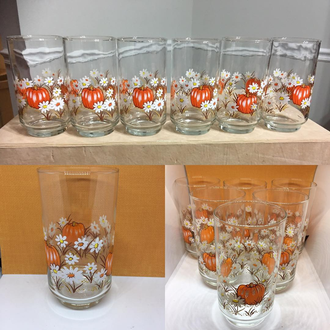 libbey floral cylinder vase of libbeyglass hash tags deskgram within vintage libbey franco harvest pumpkin glasses perfect for the fall now available at nevadameowtreasures