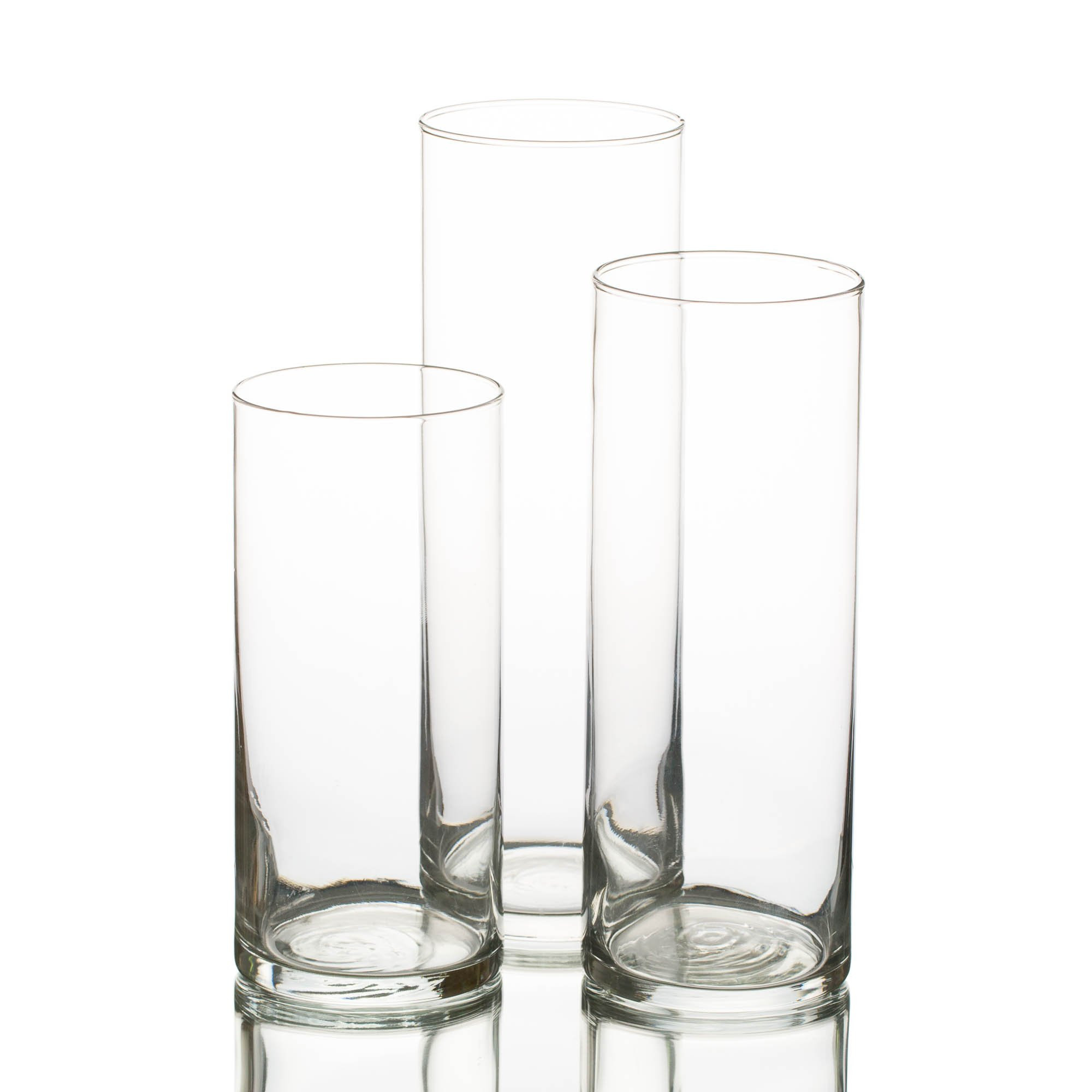 libbey glass cylinder vase 4.5 of amazon com eastland glass cylinder vase set of 3 home kitchen pertaining to 71ws6jd0dtl