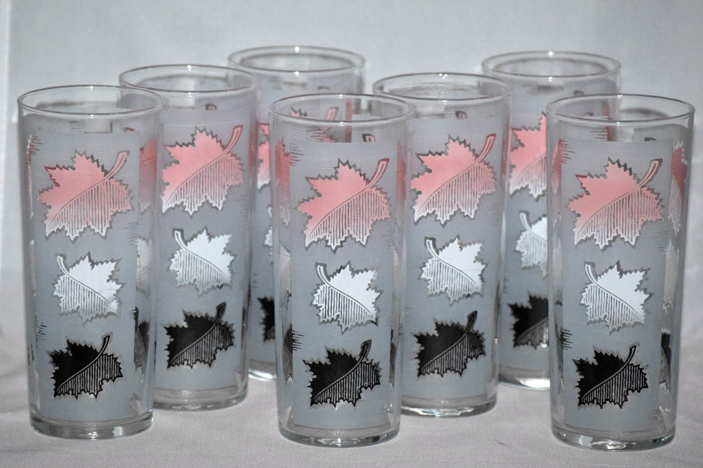 libbey glass vases bulk of vintage barware libbey glassware pink frosted leaves vintage regarding vintage barware libbey glassware pink frosted leaves retro reclaimations 1