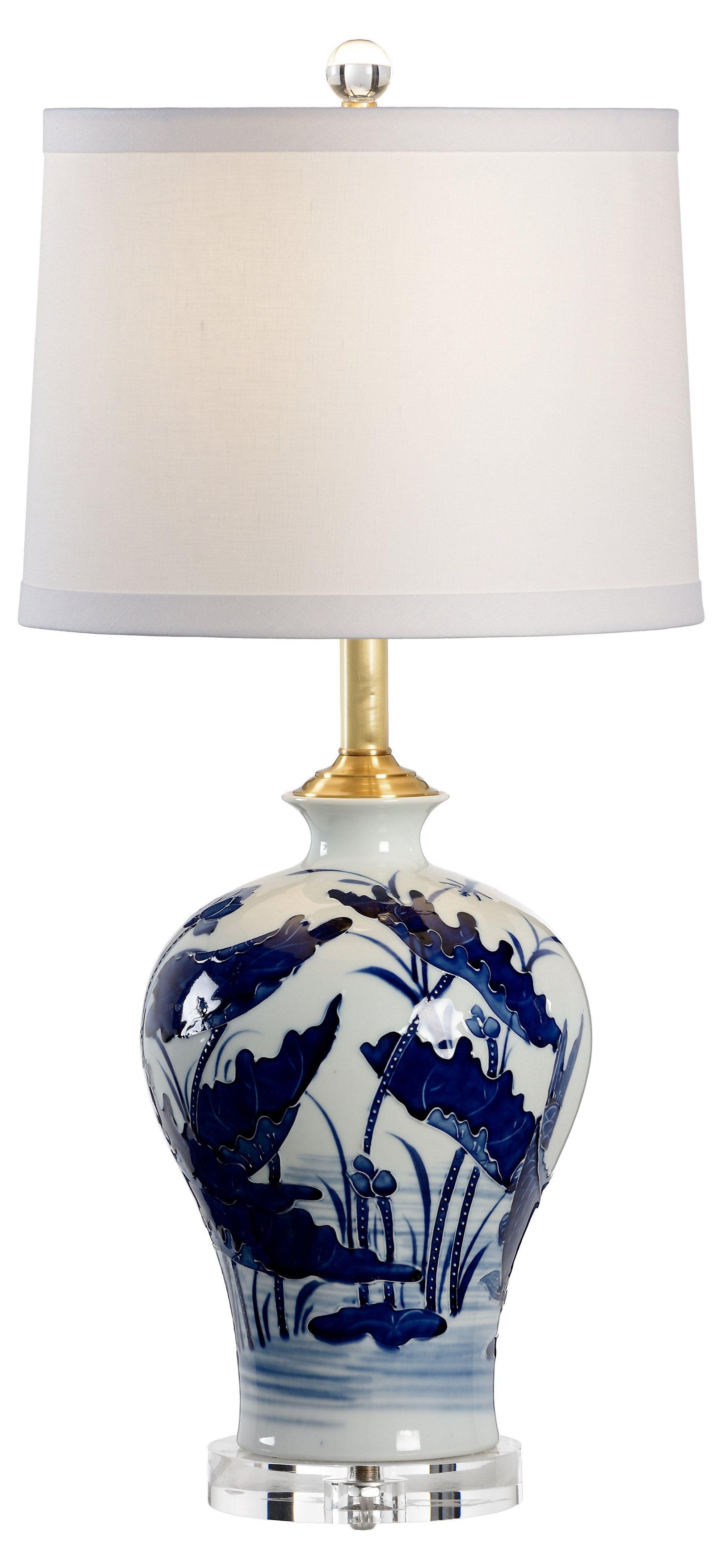light blue and white vase of lotus vase ceramic lamp blue white one kings lane apartment pertaining to lotus vase ceramic lamp blue white one kings lane
