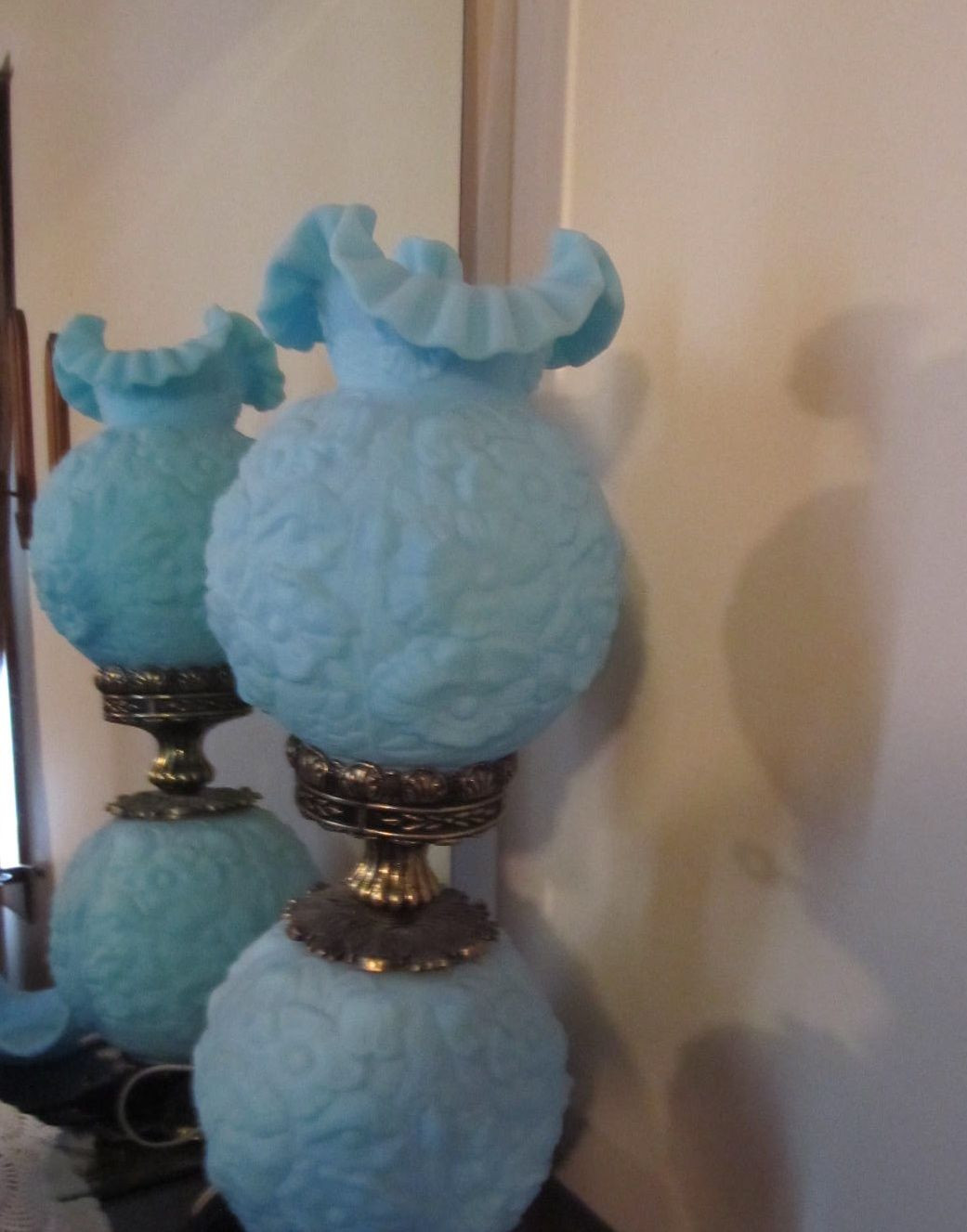 light blue fenton vase of fenton gone with the wind lamp glass fenton carnival glass for fenton gone with the wind lamp