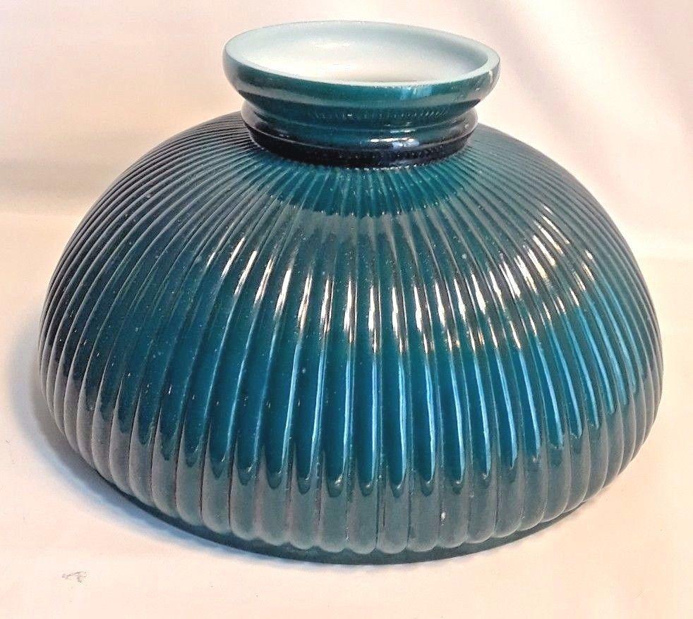 light blue glass vase of vtg oil desk ribbed emerald green milk glass 9 5 lamp shade green throughout vtg oil desk ribbed emerald green milk glass 9 5 lamp shade