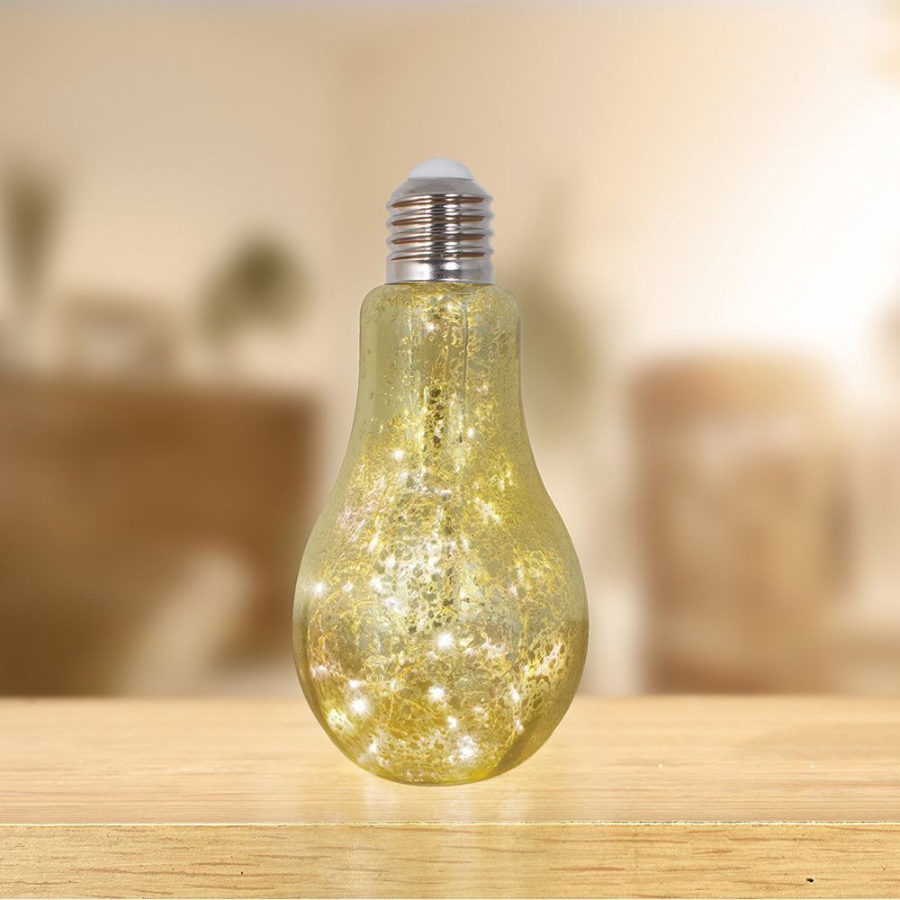Light Bulb Shaped Vase Of Lightbulb Lamp touch Activated Retro Table Light Gold Crackle Glass with Lightbulb Lamp touch Activated Retro Table Light Gold Crackle Glass Light Bulb