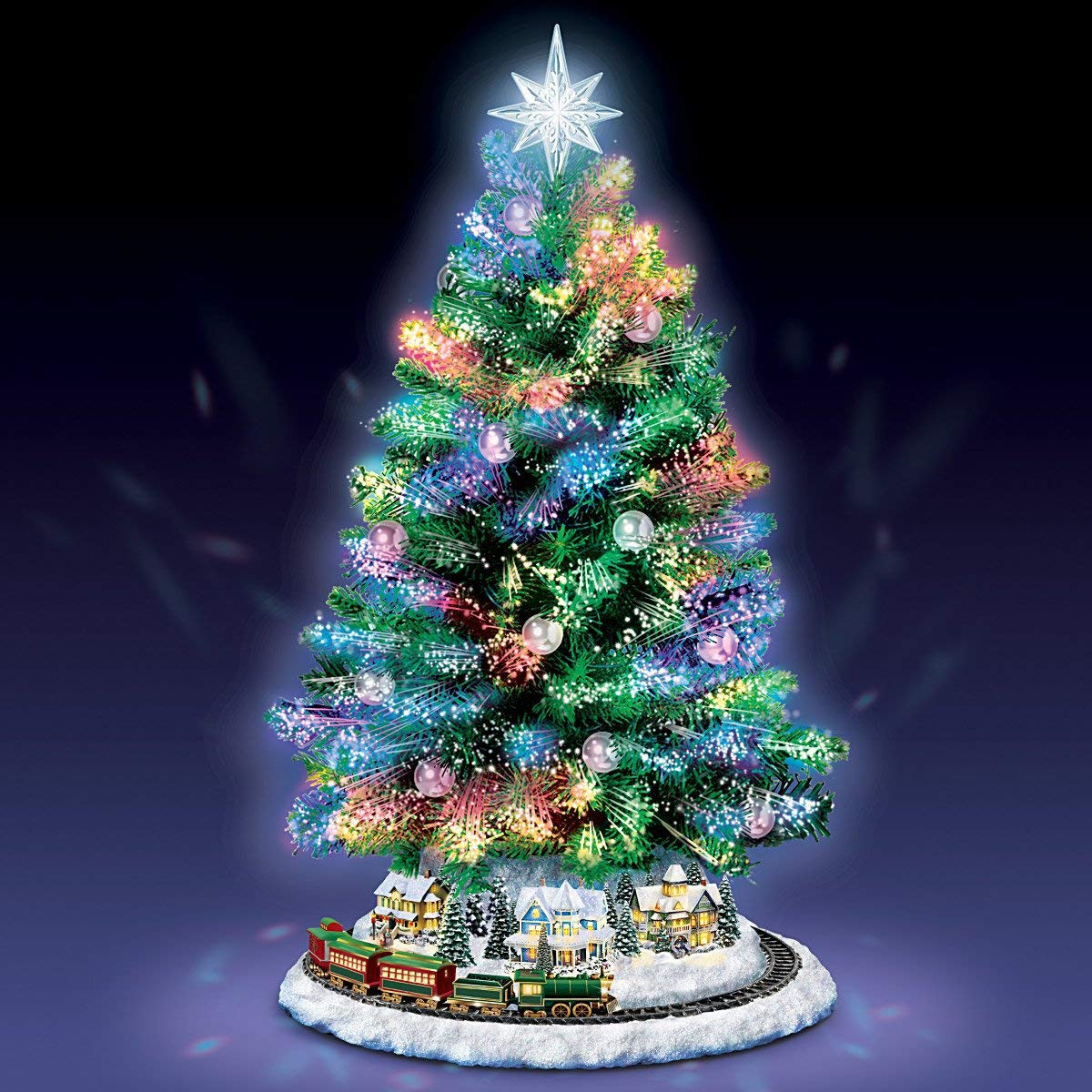 light up branches for vase of amazon com thomas kinkade holiday sparkle color changing fiber inside amazon com thomas kinkade holiday sparkle color changing fiber optic tabletop christmas tree by the bradford exchange home kitchen