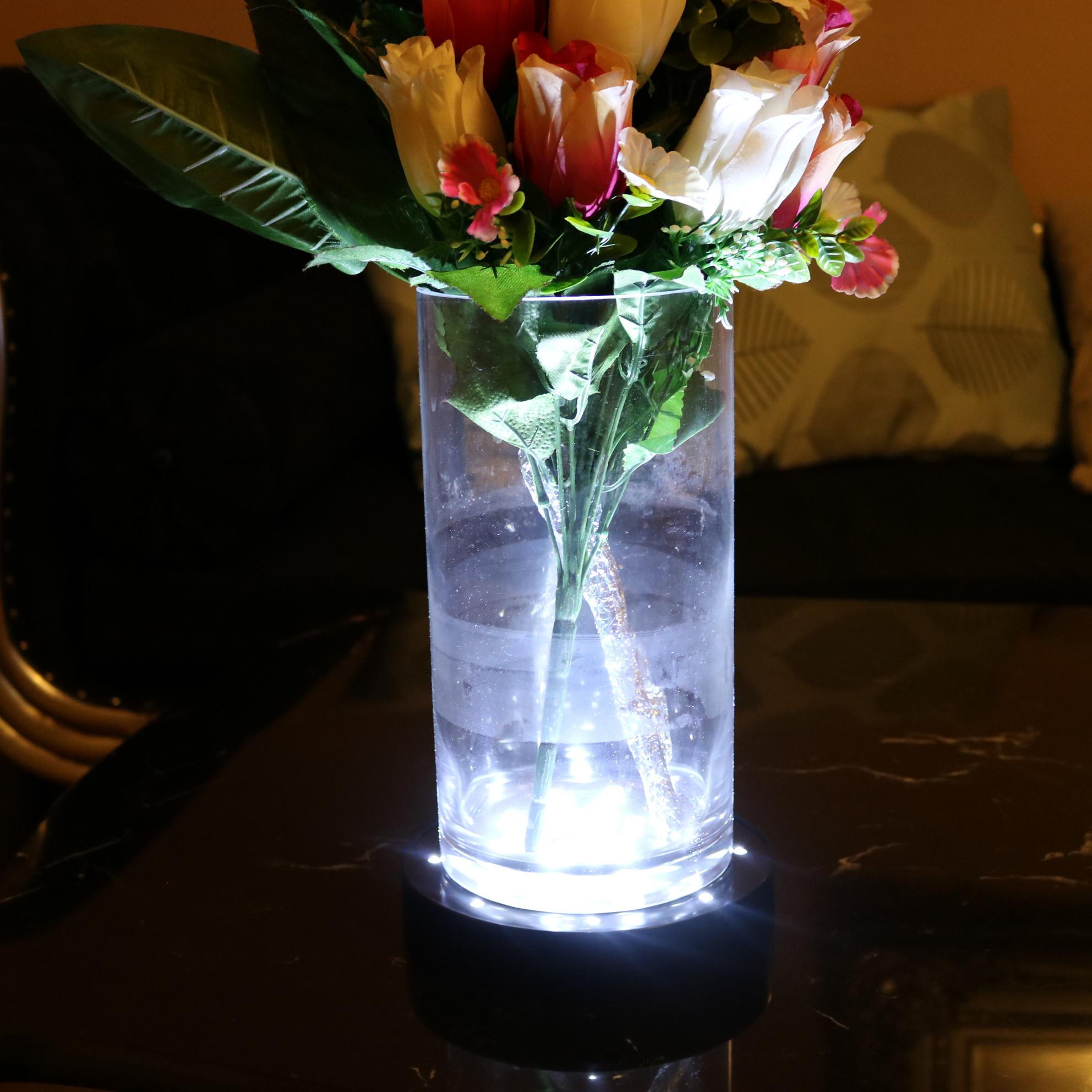 light up vase centerpiece of vase light base images flower table lamp new led cylinder vase 13 4h with flower table lamp new led cylinder vase 13 4h vases lighted 3 4