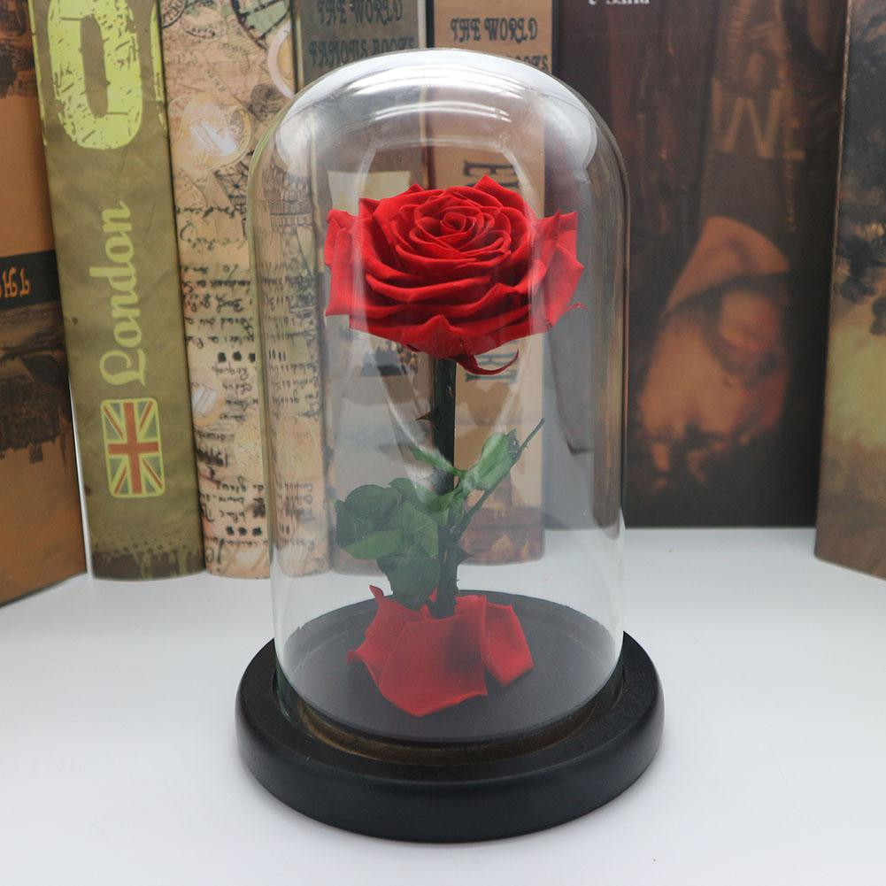 lily flower in vase of blue forever rose flower preserved immortal fresh rose in glass vase for lanlan forever rose flower immortal fresh rose in glass as valentines day collection unique gifts