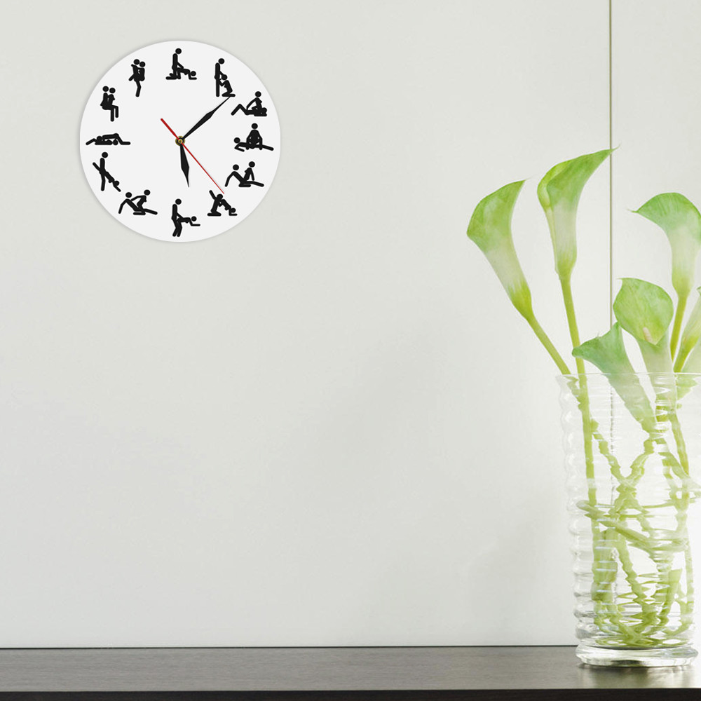 lily shaped vase of aliexpress com buy 1piece mood wall clock decorative clock sex in each clock measures approximately 12 x 12 and features a quartz clock operating mechanism with minute ha