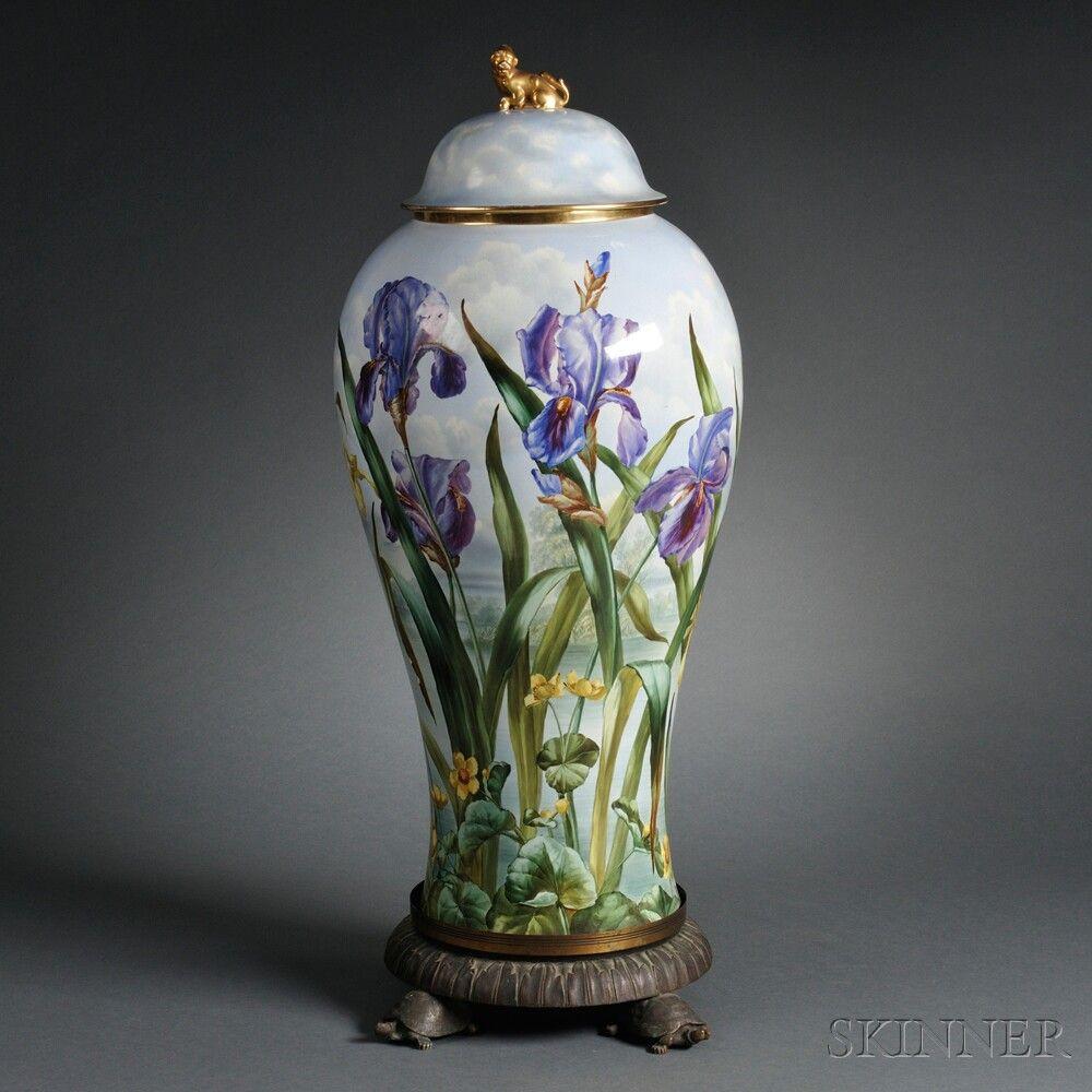 limoges china vase of limoges style porcelain covered floor vase on stand porcelains regarding limoges style porcelain covered floor vase on stand