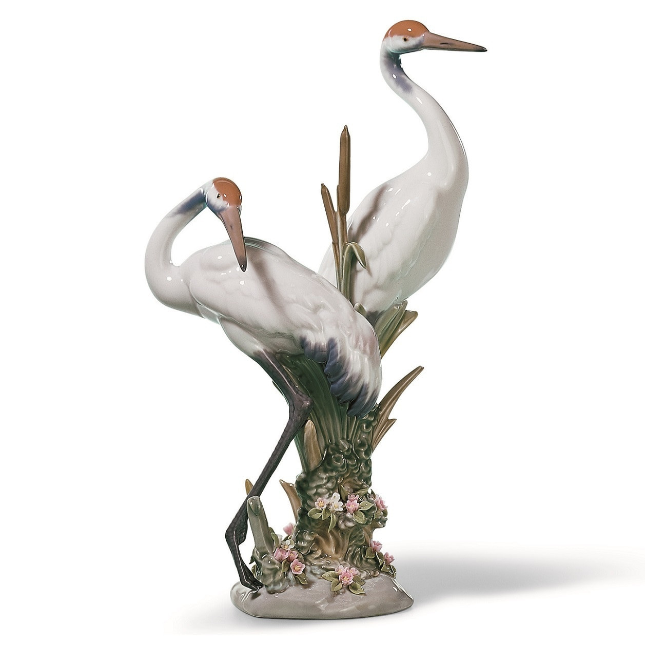 lladro vase flowers of courting cranes porcelain sculpture lladro courting cranes figurine inside courting cranes porcelain figurine lladro 1001611
