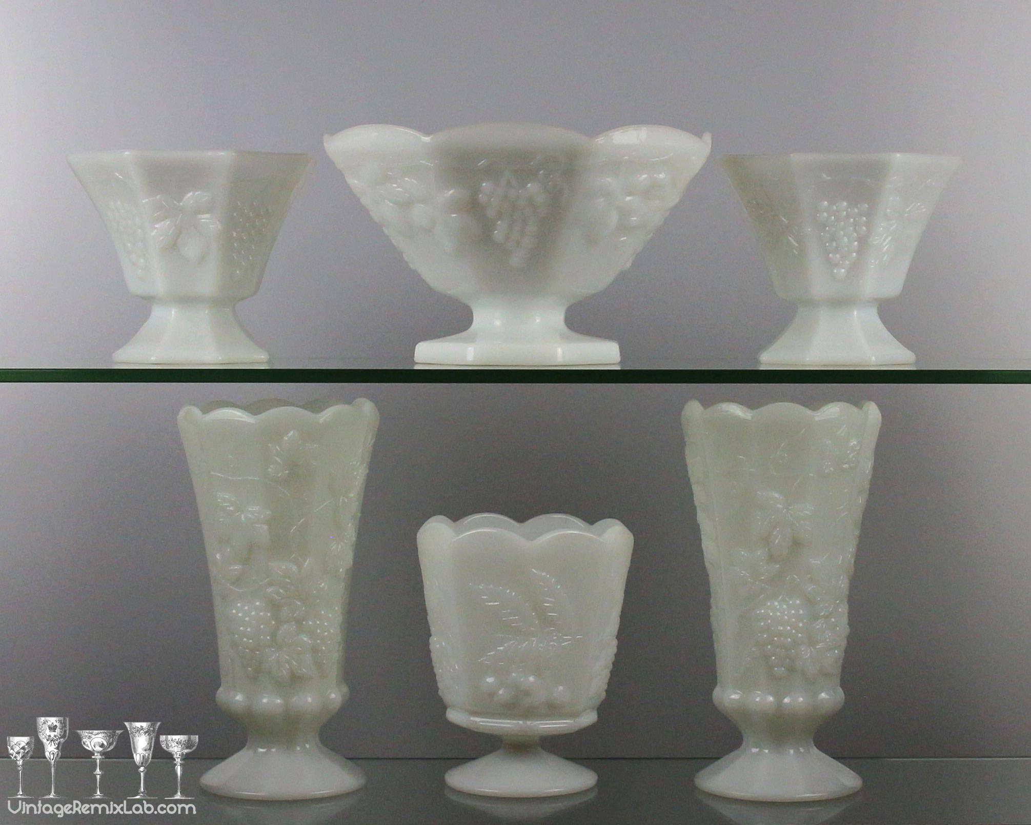 log vases for sale of 50 glass pedestal vase the weekly world within vintage 1950s milk glass pedestal vases • paneled grape design by