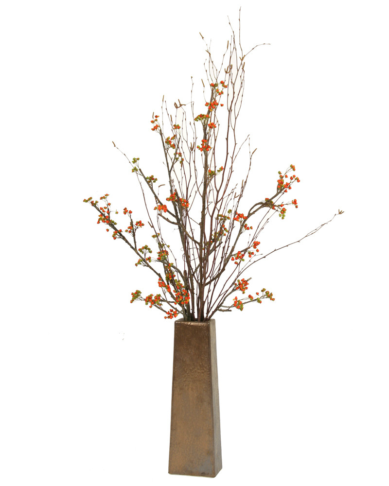 long floor vases online india of artificial flowers for tall vases sevenstonesinc com within silk bittersweet branches in tall tapering square copper finish vase