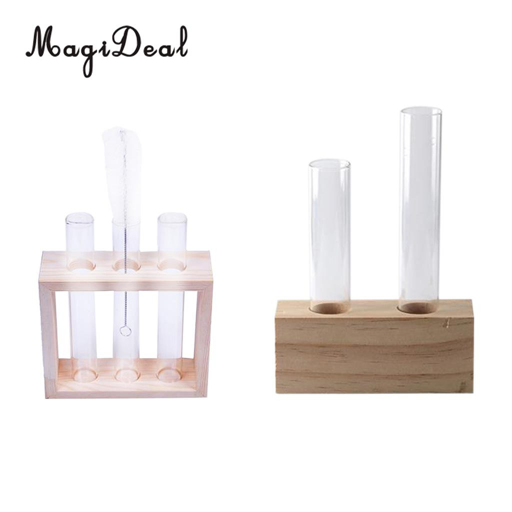 long neck clear glass vase of 2pcs plant test tube flower bud vase in wooden stand perfect for with 2pcs plant test tube flower bud vase in wooden stand perfect for hydroponic plants home garden