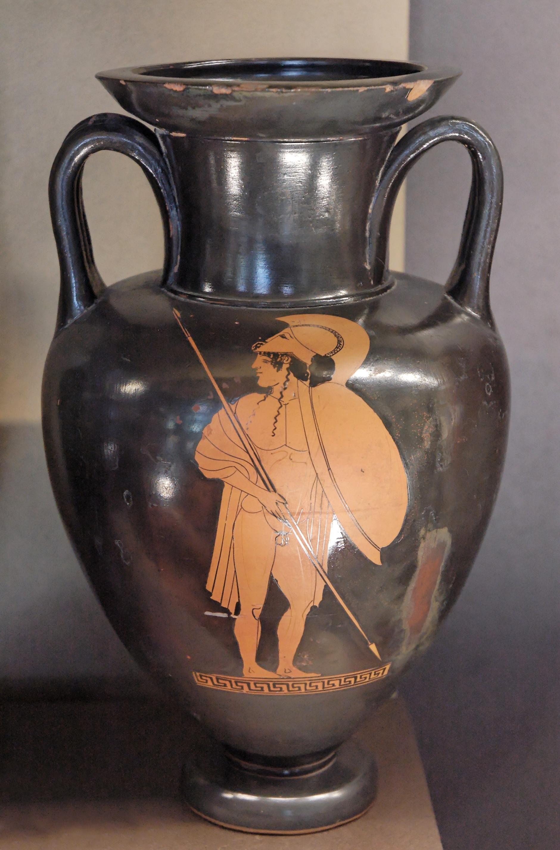 long neck vase of typology of greek vase shapes wikiwand intended for neck amphora antilochus louvre g213