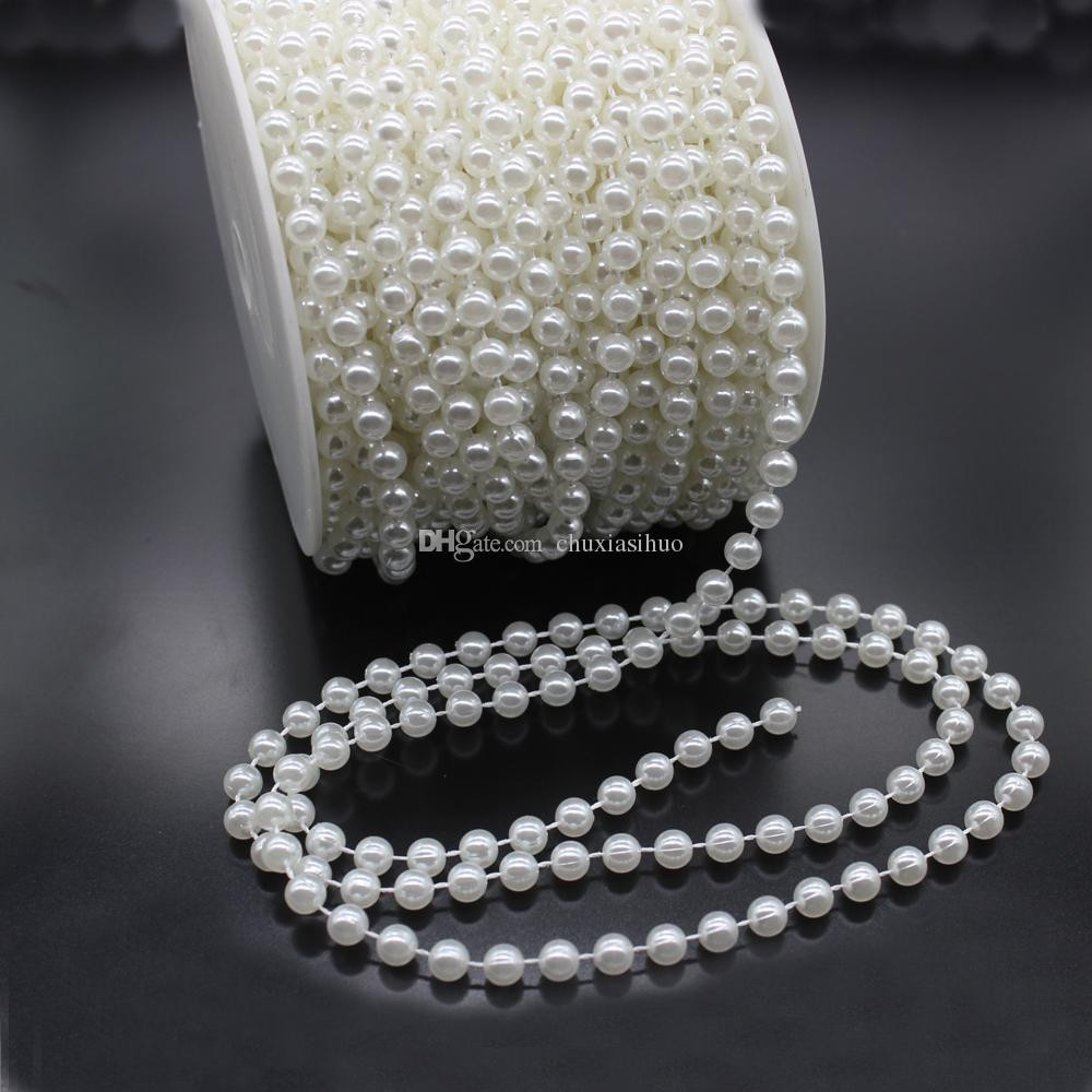 Loose Pearls Vase Filler wholesale Of Hot Sale 6 Mm Pearl Bead Garland Spool Rope Wedding Centerpiece Throughout Hot Sale 6 Mm Pearl Bead Garland Spool Rope Wedding Centerpiece Decor 25 Meters82 Feet Pearl Garland Roll Wedding Decorated Garland Bead Pearl String Online