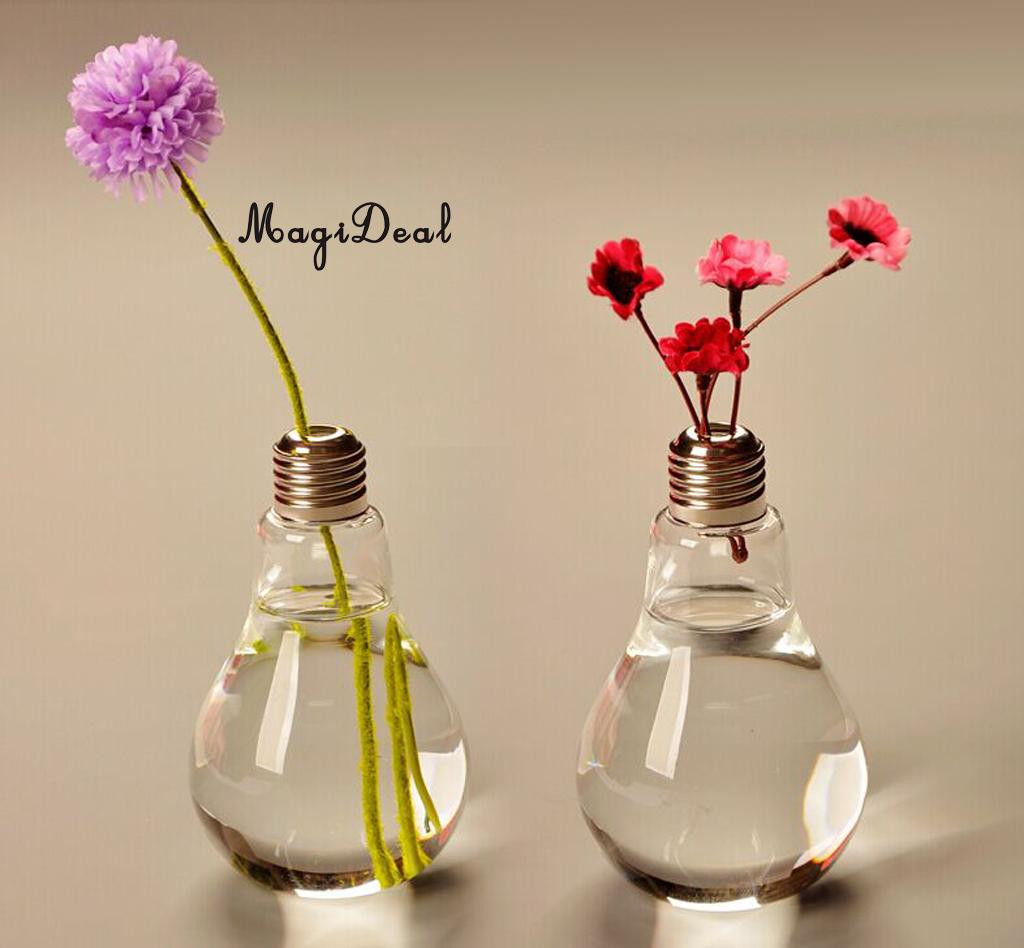low glass vase of magideal creative bulb shaped glass vase transparent table bottle intended for aeproduct getsubject
