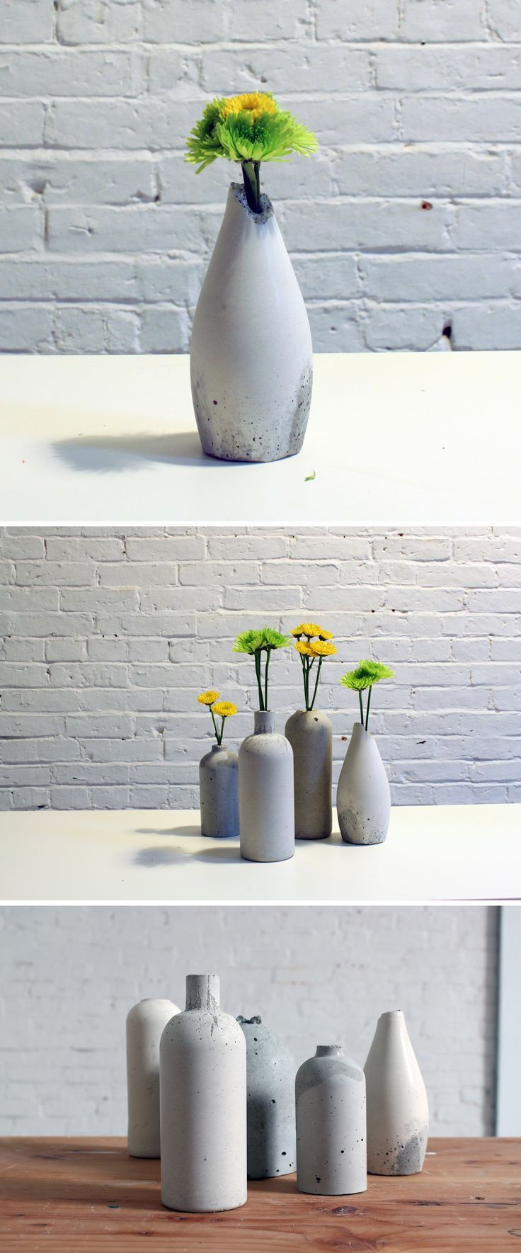 low rectangular vase of 522 best diy home decor images on pinterest cement concrete in these diy vases look great in any room of the house and are a great low cost diy centerpiece option for weddings you can make yourself an entire set of