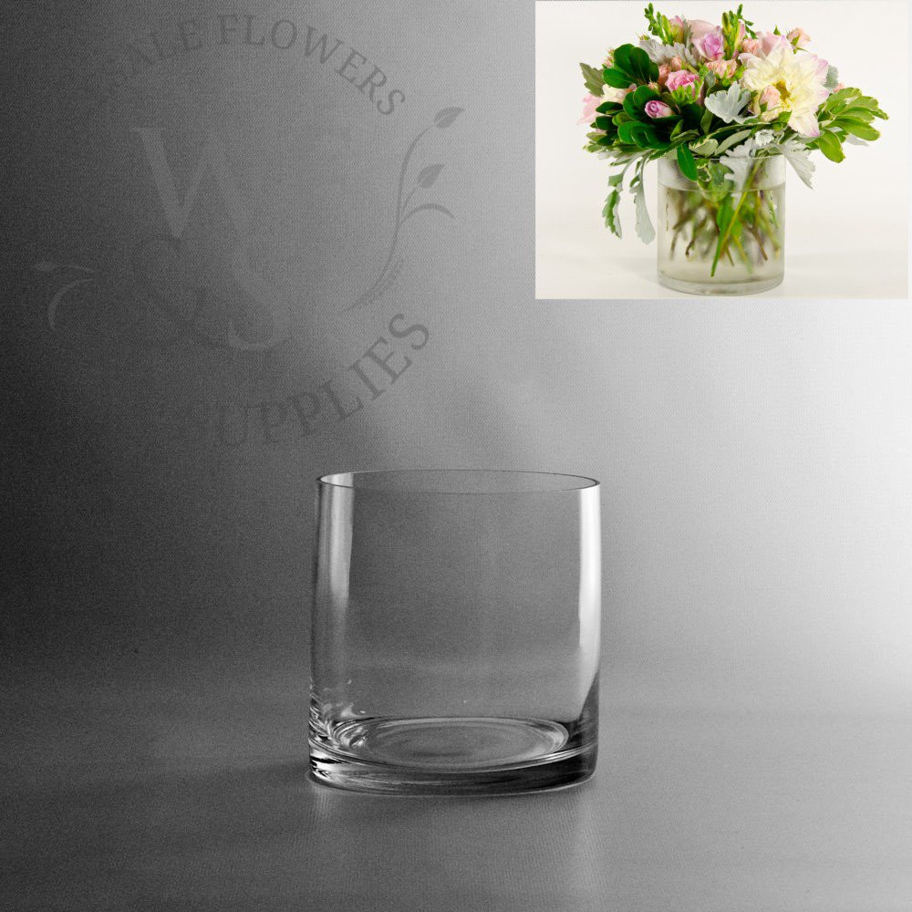 Low Round Glass Vase Of Glass Cylinder Vases wholesale Flowers Supplies with 5x5 Glass Cylinder Vase