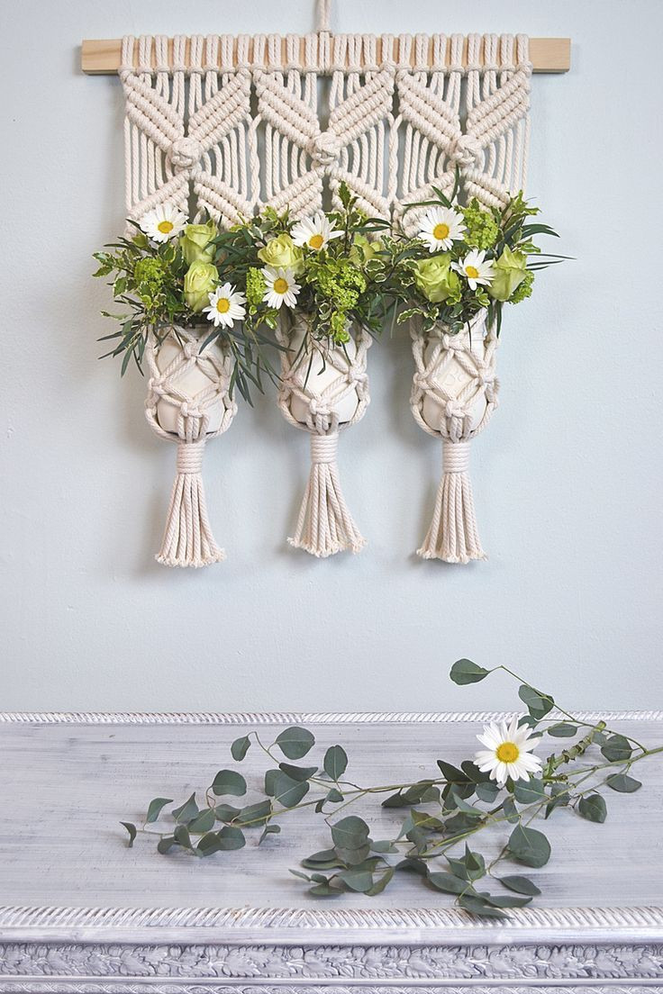 macrame hanging flower vase of 73 best makramee images on pinterest macrame knots braid and diy intended for macrame wall hanging decor idea by amy zwikel studio perfect unique macrame piece to add texture and warmth macrame plant holder makes a great herb garden