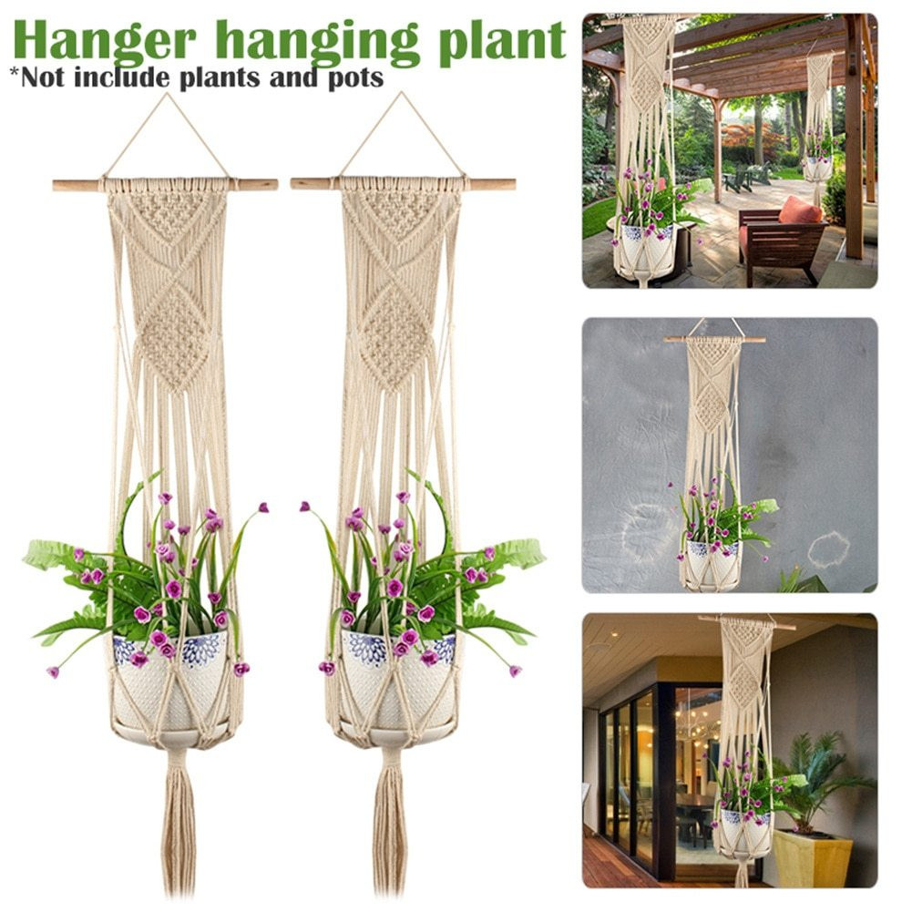 22 Fabulous Macrame Hanging Flower Vase 2021 free download macrame hanging flower vase of classic knotted plant hanger basket inexperienced flowerpot macrame within product present
