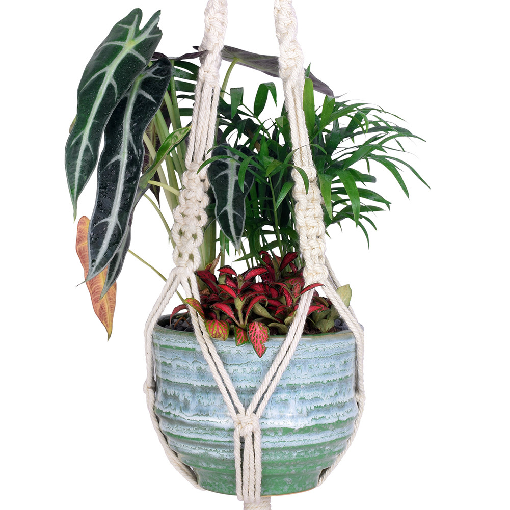 22 Fabulous Macrame Hanging Flower Vase 2021 free download macrame hanging flower vase of online cheap wituse 3x macrame plant hanger cotton handmade hanging intended for 3 x plant hangers each size1