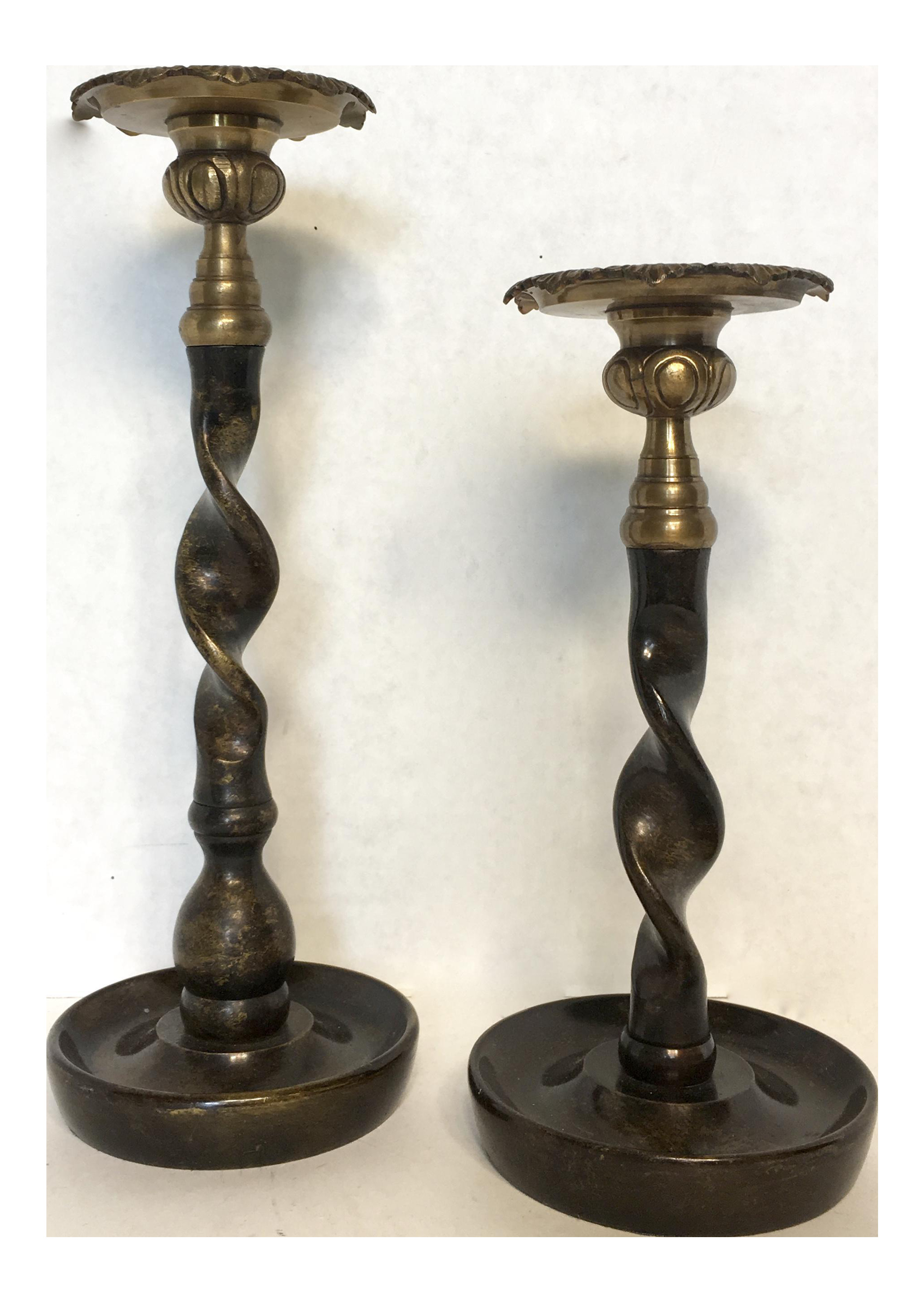 maitland smith ltd vase of maitland smith barley twist candle holders a pair chairish for maitland smith barley twist candle holders a pair 5504