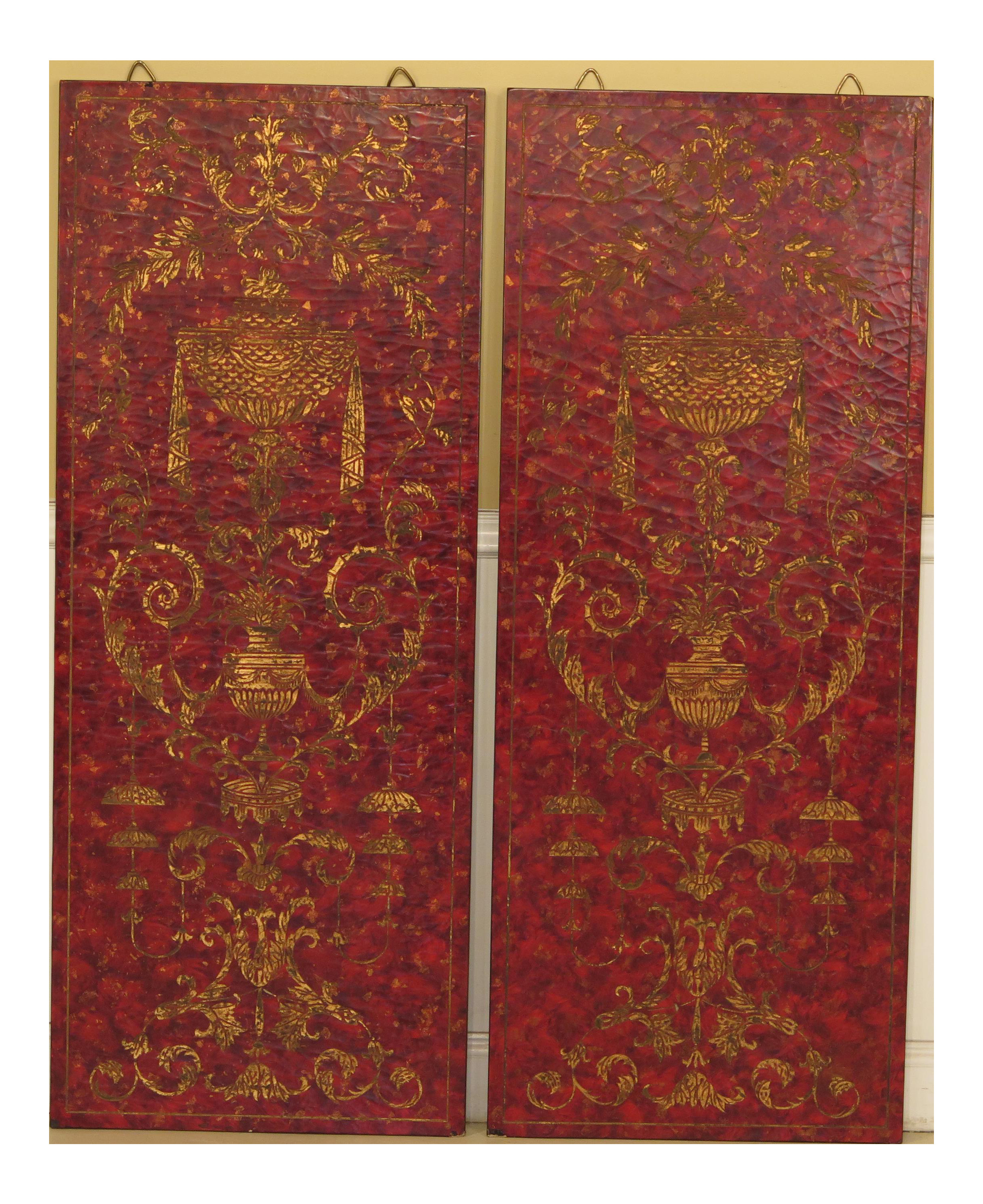 Maitland Smith Ltd Vase Of Maitland Smith Decorative Wall Panels A Pair Chairish Throughout Maitland Smith Decorative Wall Panels A Pair 9861