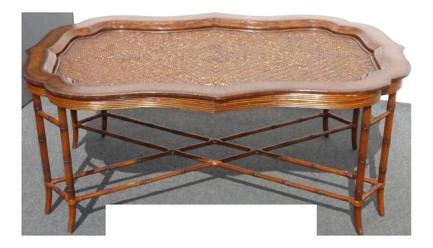 maitland smith ltd vase of maitland smith rattan leather coffee table chairish regarding maitland smith rattan and leather coffee table 0355