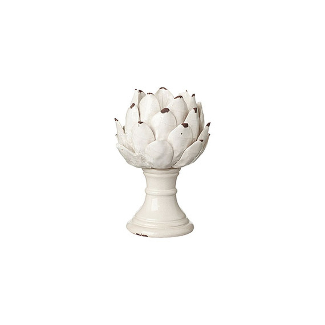 mango wood vase of prezola cardoon candle holder small oka for hover to zoom