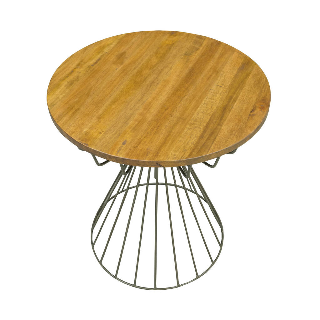 Mango Wood Vase Thailand Of Birdcage Side Table by the orchard Furniture Notonthehighstreet Com with Regard to Birdcage Side Table