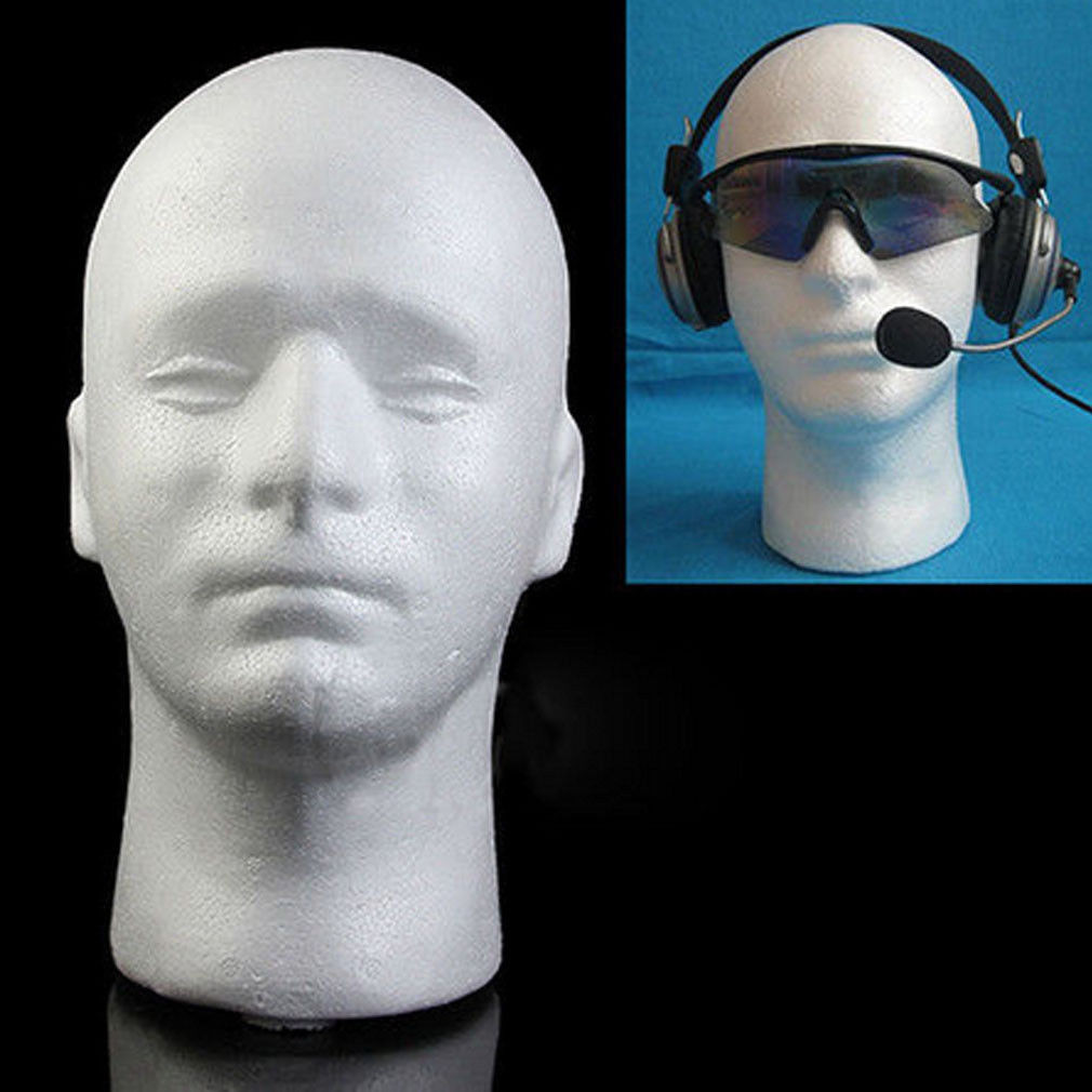 Mannequin Head Vase Of High Quality 54cm Circumference Men Pvc Mannequin Manikin Head Model with Male Styrofoam Foam Mannequin Head Manikin Head Wig Display Hat Glasses Stand Men