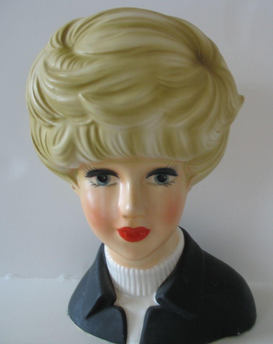 mannequin head vase of vintage lady head vase blonde large 8x5 inarco 1950s beautiful with vintage lady head vase blonde large 8x5 inarco 1950s beautiful