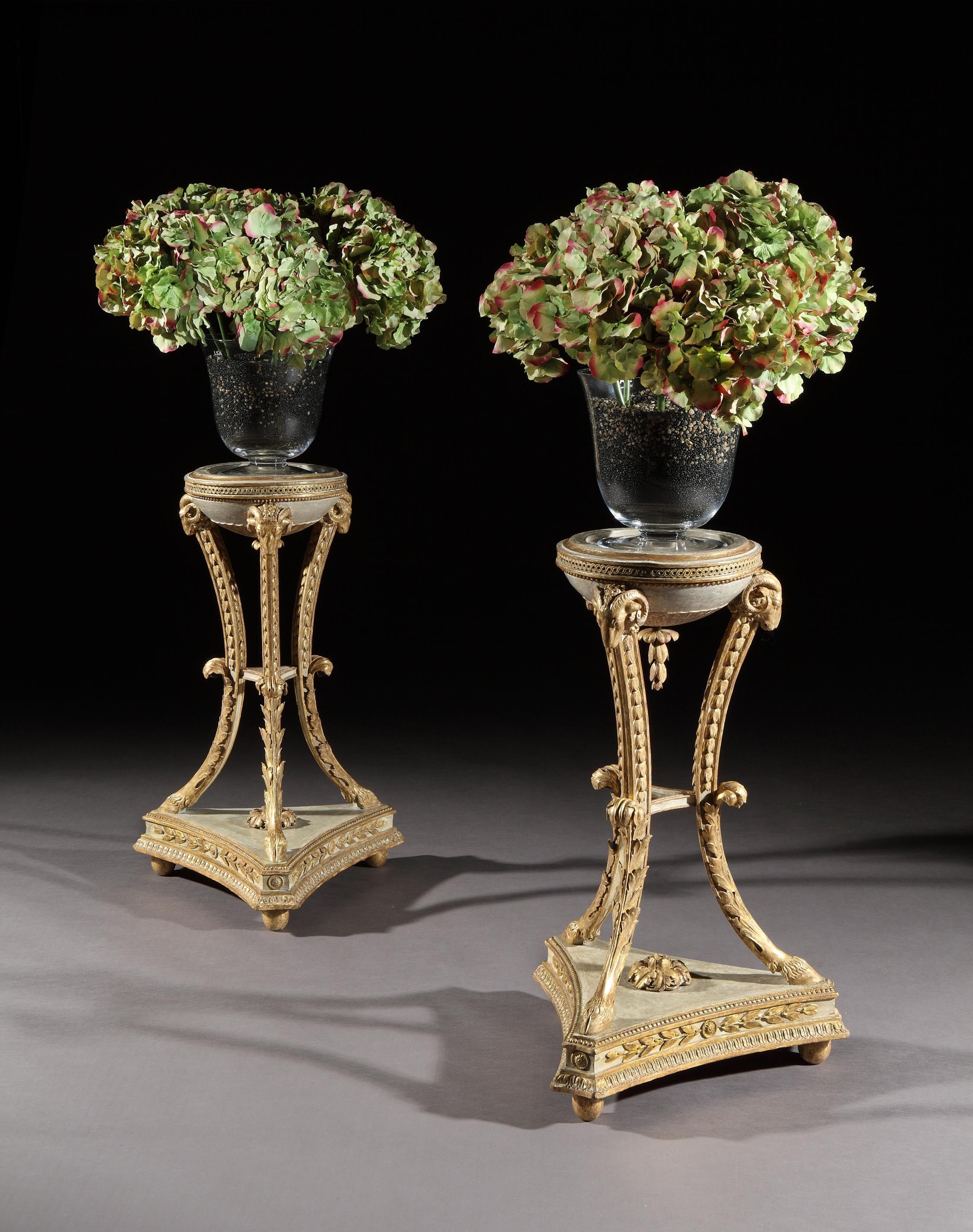 marble vase stand of a pair of adam giltwood stands c 1775 england decorate for a pair of adam giltwood stands