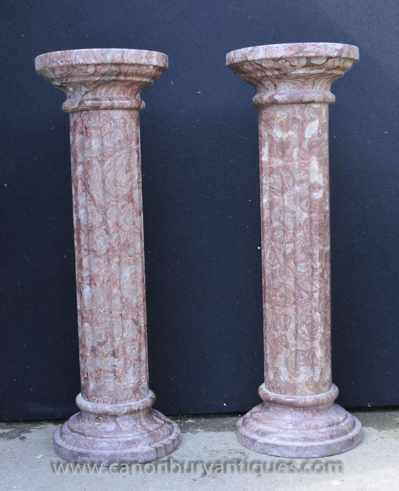 marble vase stand of photo of pair classic italian marble doric column stands pedestal within photo of pair classic italian marble doric column stands pedestal columns