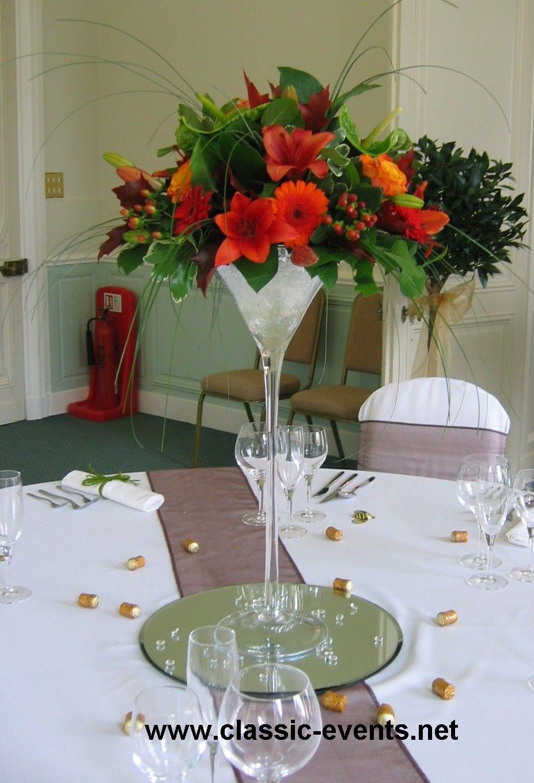 margarita glass vase of wedding table flower arrangements thursday 26 november 2009 intended for wedding table flower arrangements thursday 26 november 2009