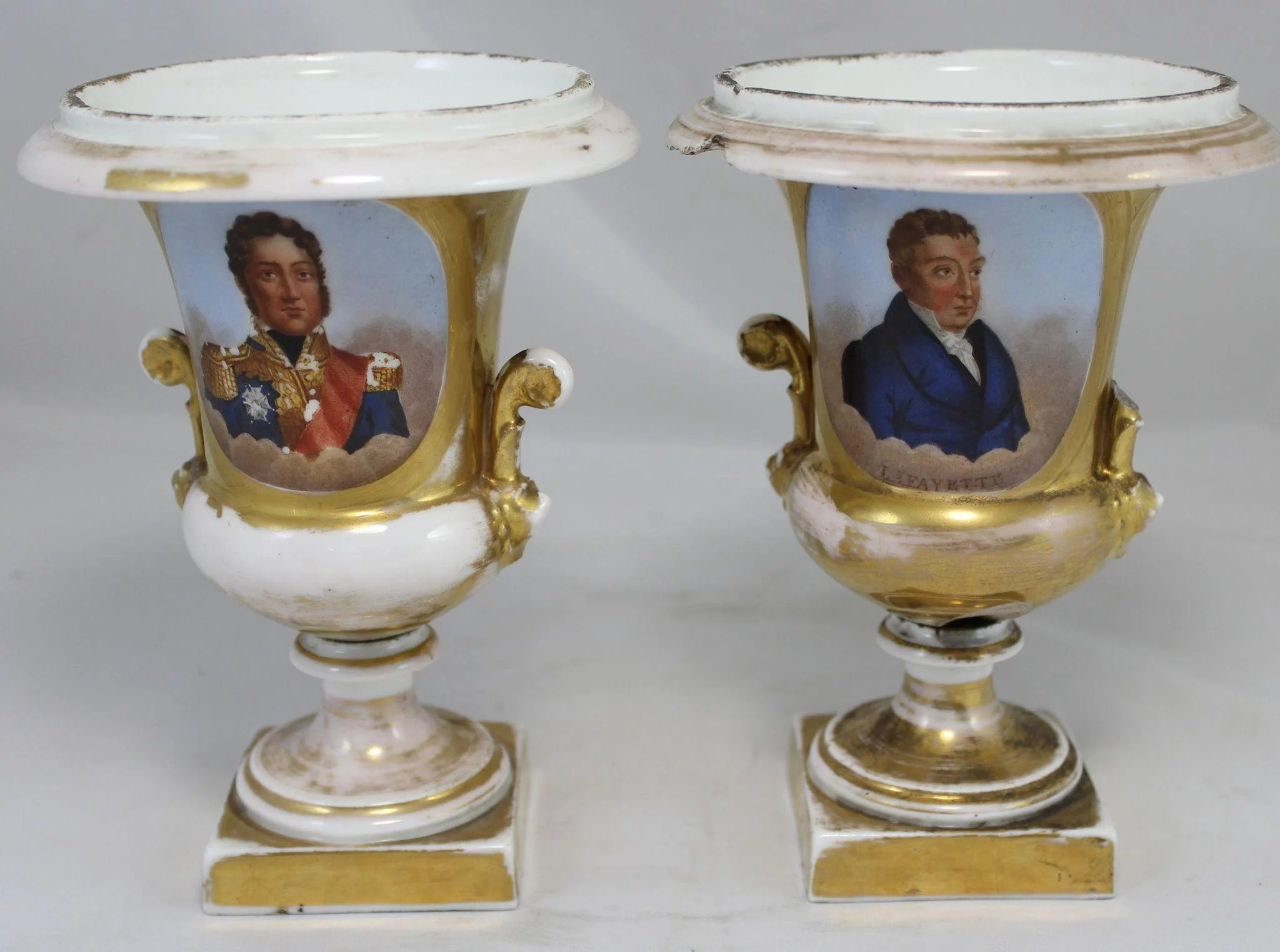 Marquis 11 Crystal Vase Of Revolutionary War General Marquis De Lafayette 7 Pc Memorabilia with Regard to Click to Expand