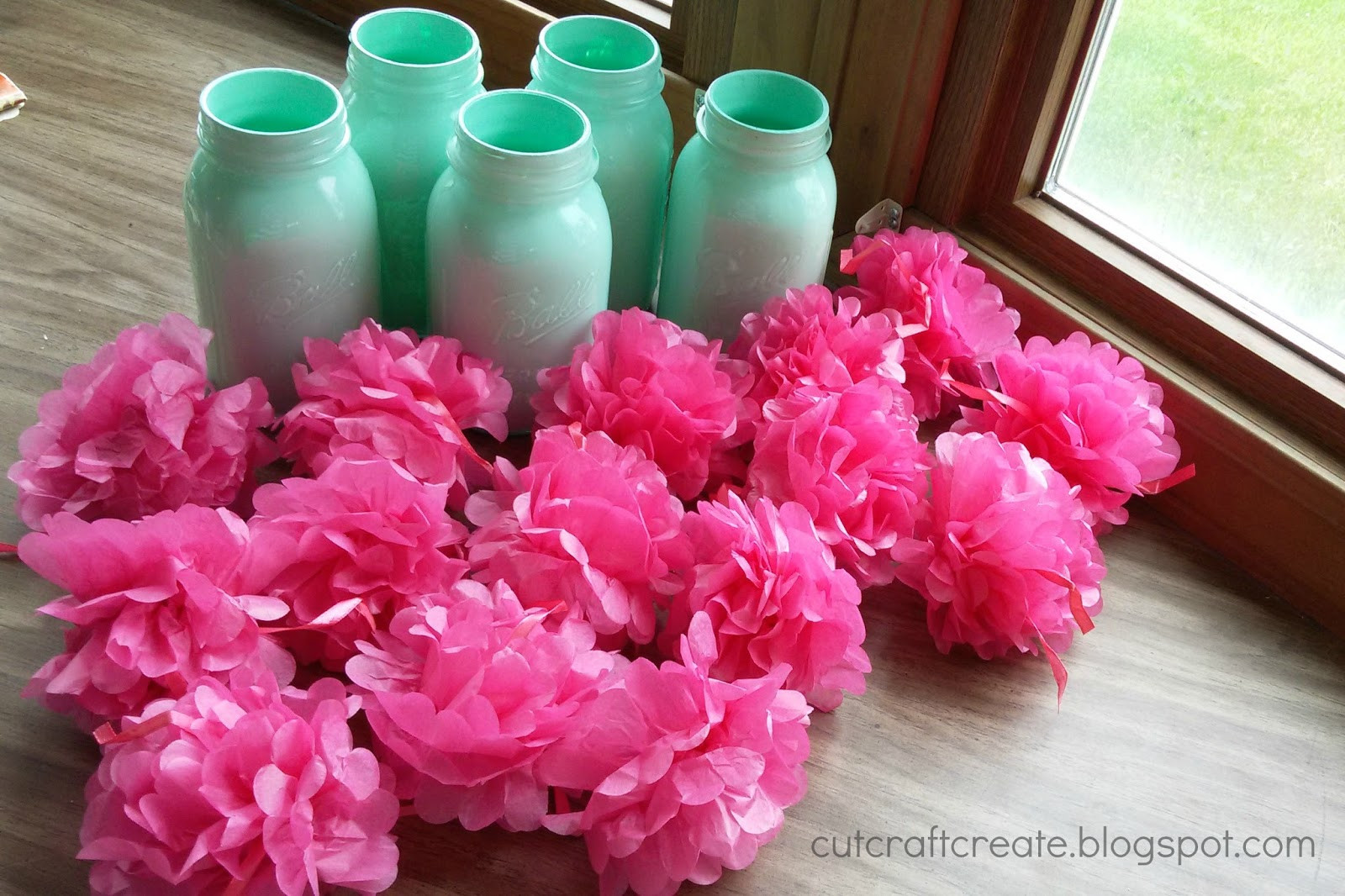 mason jar picture frame vase of cut craft create pom pom flower mason jars for with a hot glue gun glue the lid and ring from the mason jar together dont get glue on the threading though because you will still need to put the lids