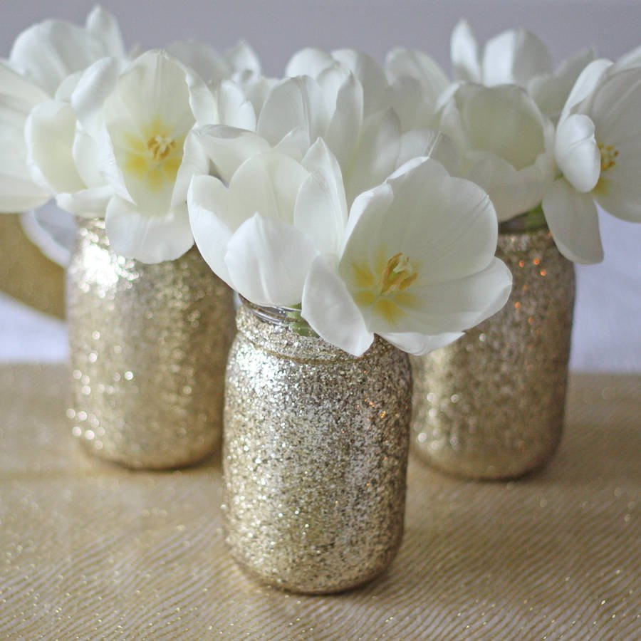 Mason Jar Vase Ideas Of Gold Glitter Jar Vase by the Wedding Of My Dreams with Gold Glitter Jar Vase