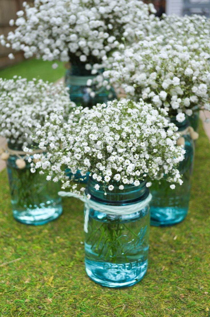 mason jar vases with ribbon of 68 babys breath wedding ideas for rustic weddings dream counrty throughout mason jars brown ribbon babys breath