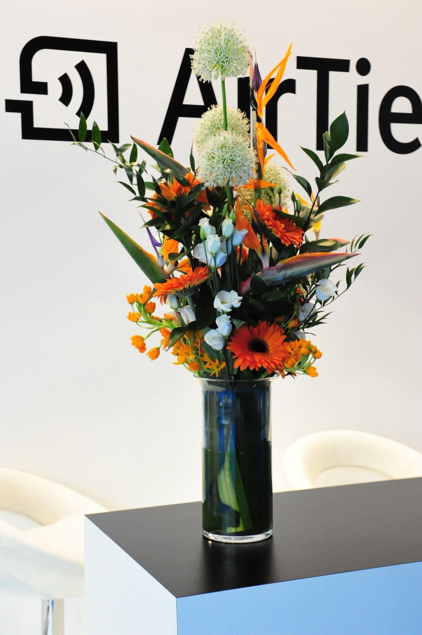 matte green vase of 21 flower arrangement in vase the weekly world regarding 6 od orange stock bird of paradise orange gerbera white