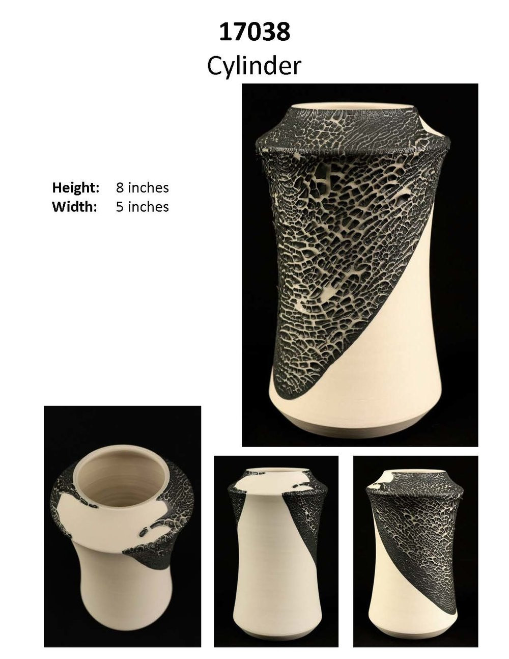 matte white ceramic vase of crawl on white matte 2018 09 09 crawford ceramic designs throughout crawl on white matte page 03