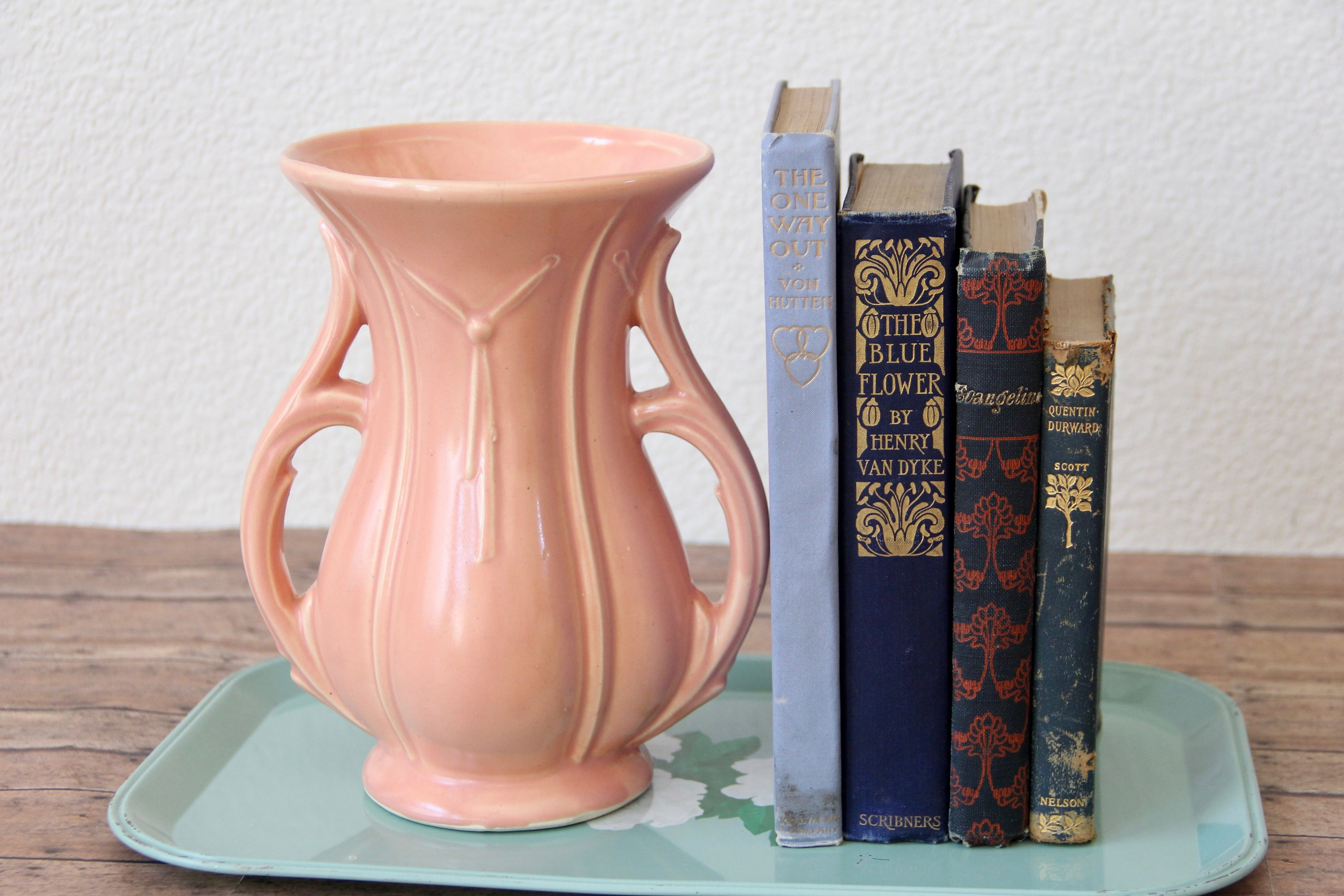 "mccoy pottery flower vases of mccoy pottery mccoy vase mccoy ribbon vase peach mccoy etsy throughout dŸ""Žpowia™ksz"