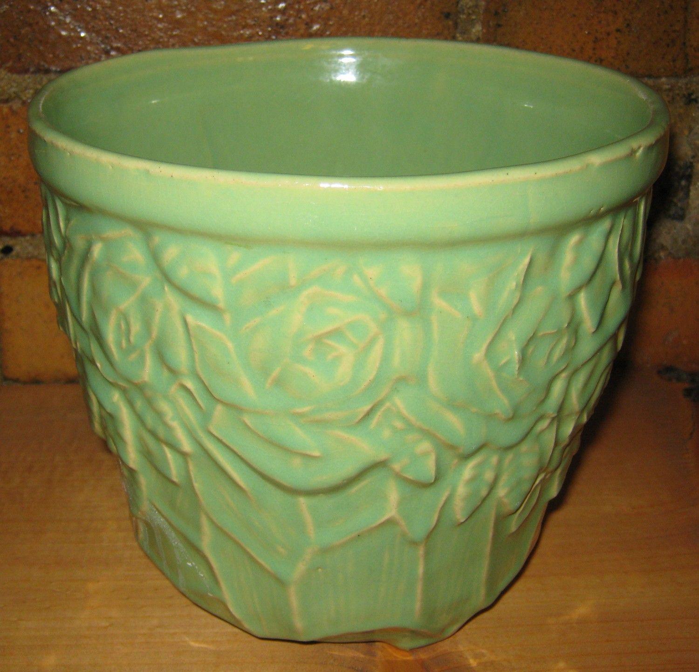 mccoy pottery green vase of vintage mccoy pottery planter green jardiniere with rose pattern regarding 65e9e6b443b23e6fa3a0dca604ce61d3