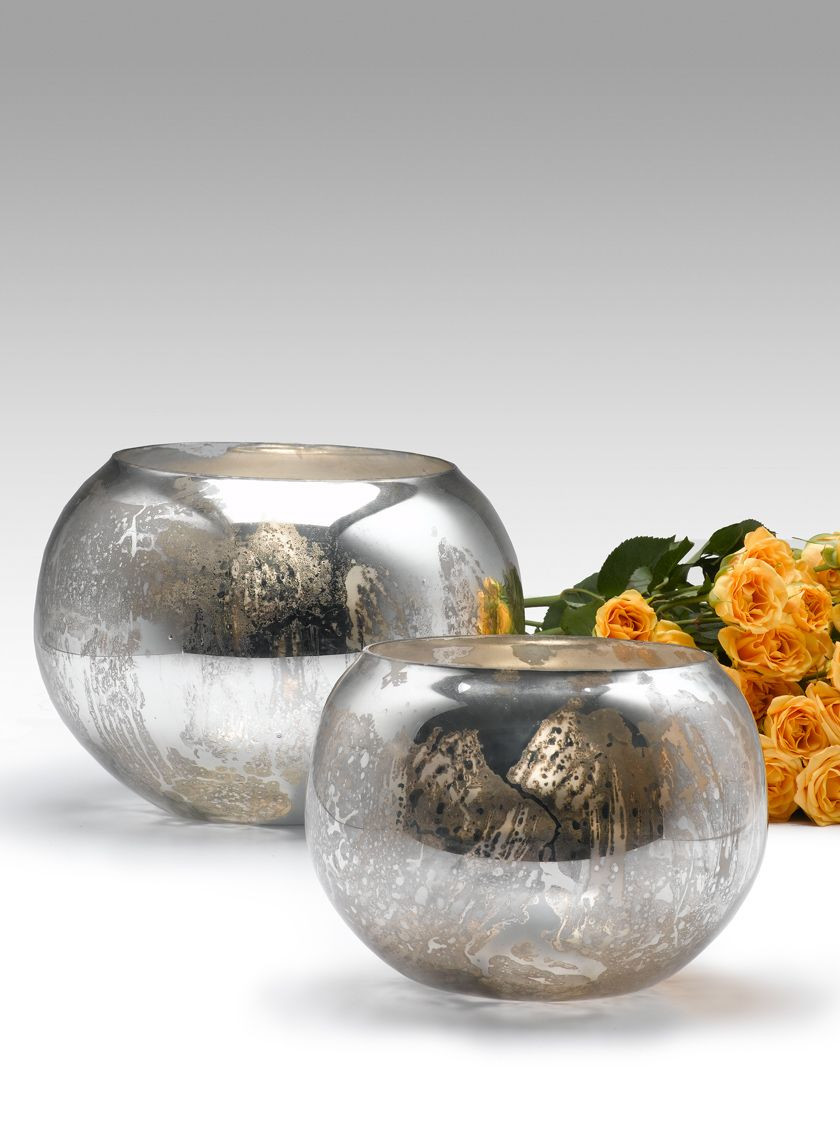 mercury glass bud vases bulk of 6 8 inch antique silver fish bowls vases pinterest fishbowl for antique silver mercury glass fishbowl vases wedding event reception