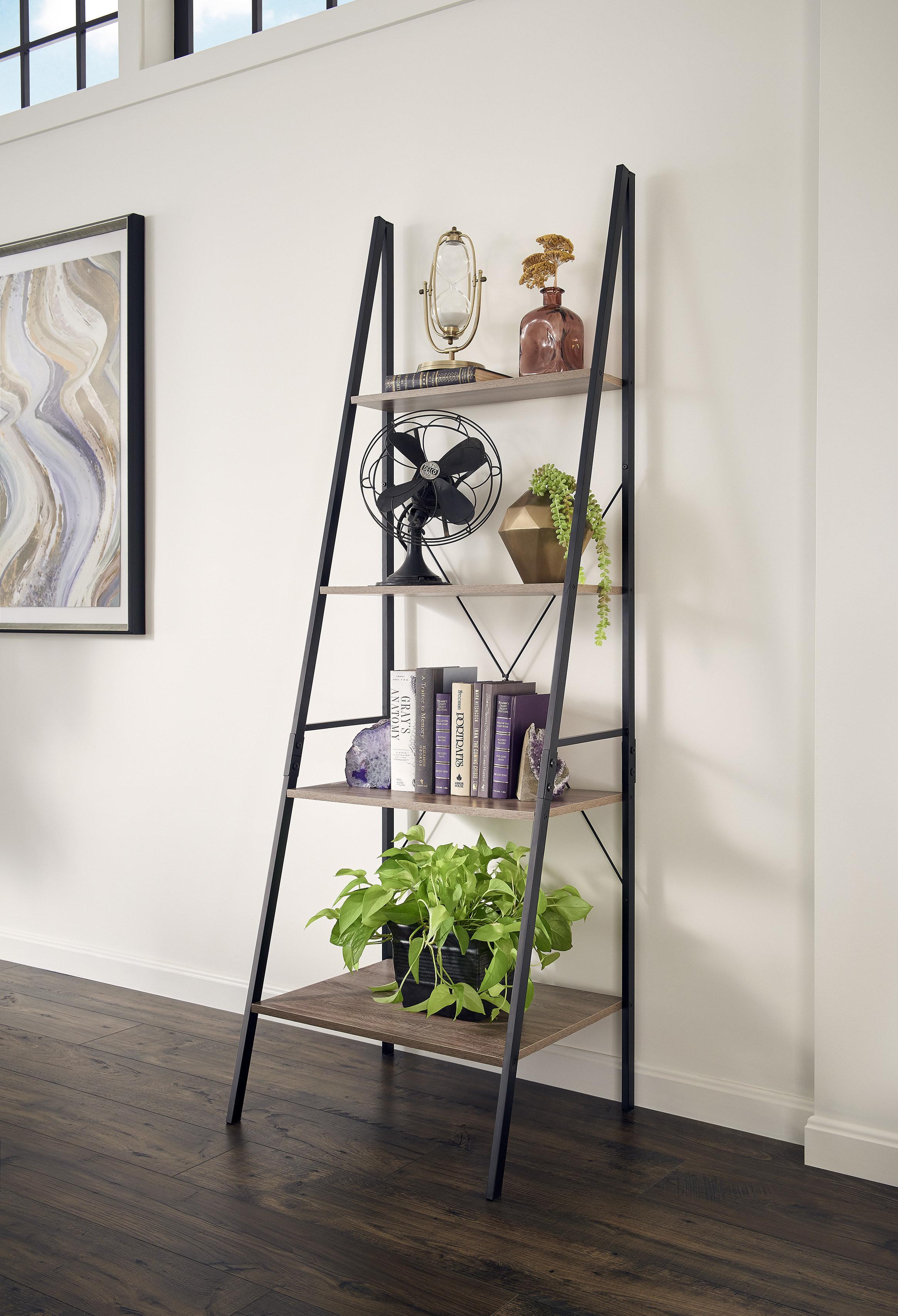 mercury glass floor vase of mercury row almanzar ladder bookcase reviews wayfair pertaining to almanzar ladder bookcase