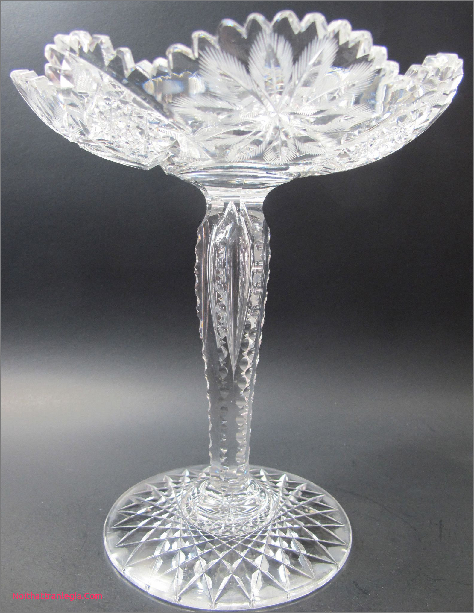 mercury glass footed vase of 20 cut glass antique vase noithattranlegia vases design with regard to fering this abp antique cut glass pote from the american brilliant period 1886 1916 9 5